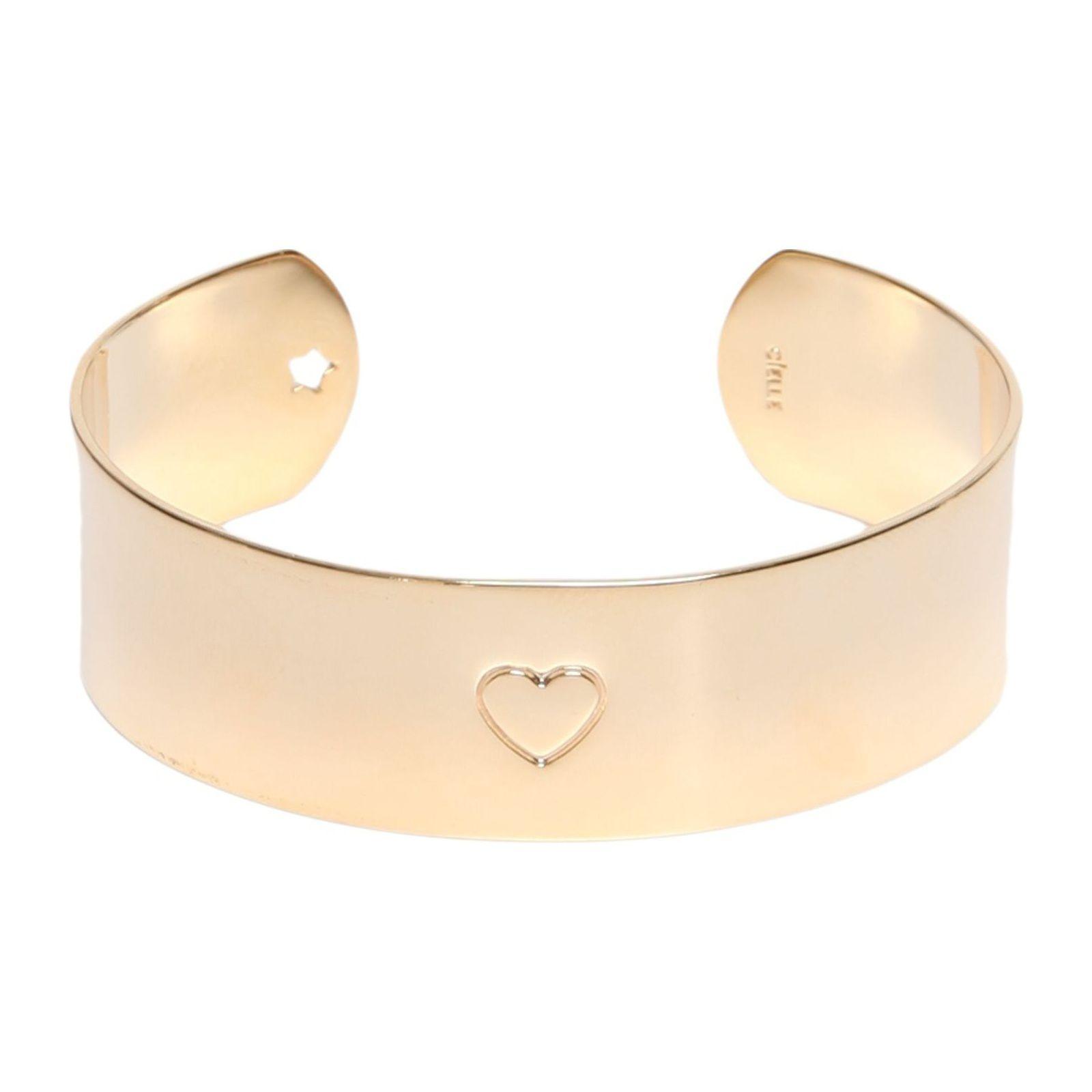 Bracelete Shine Coraçao - Dourado