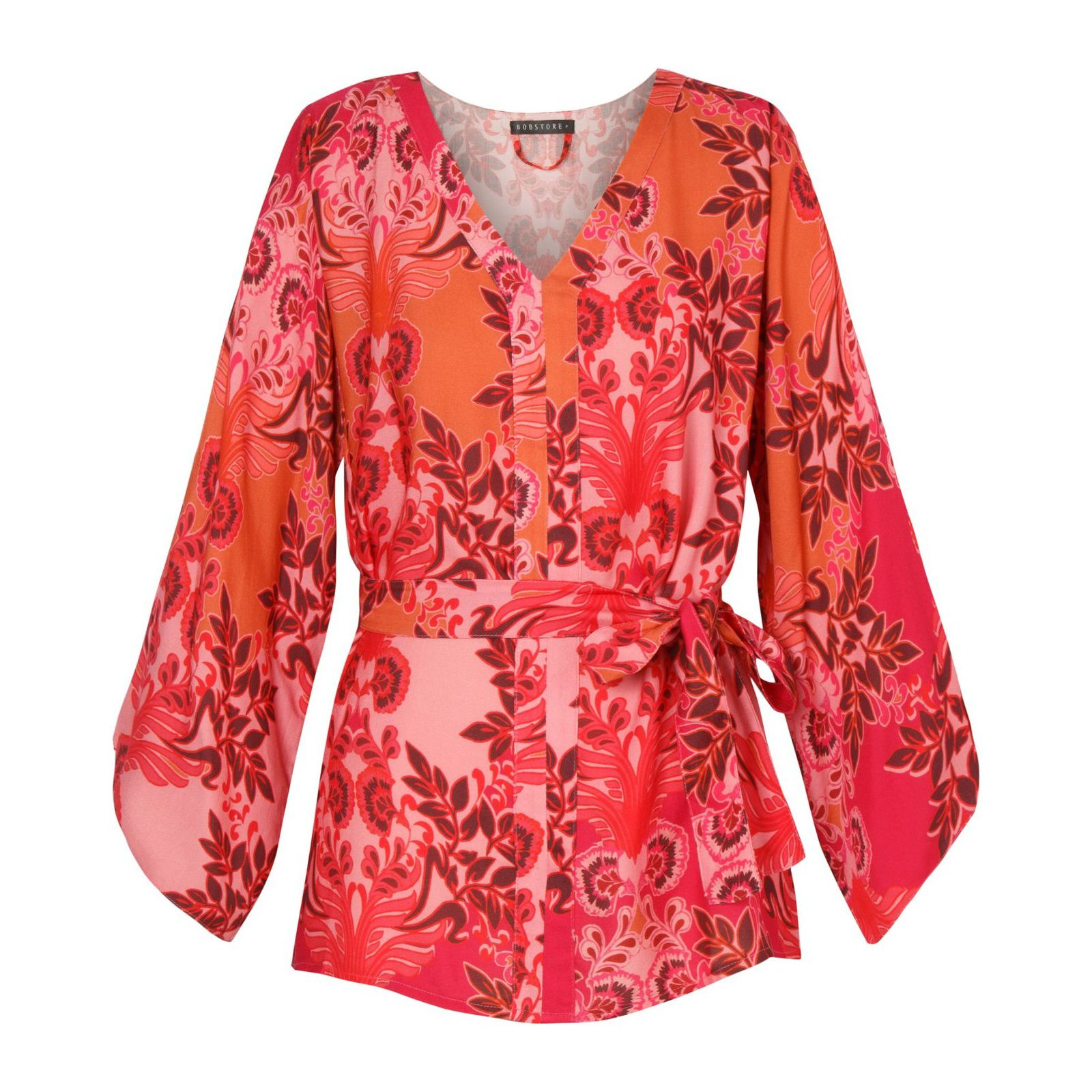 Blusa Bobstore Nipo Flower - Vermelha