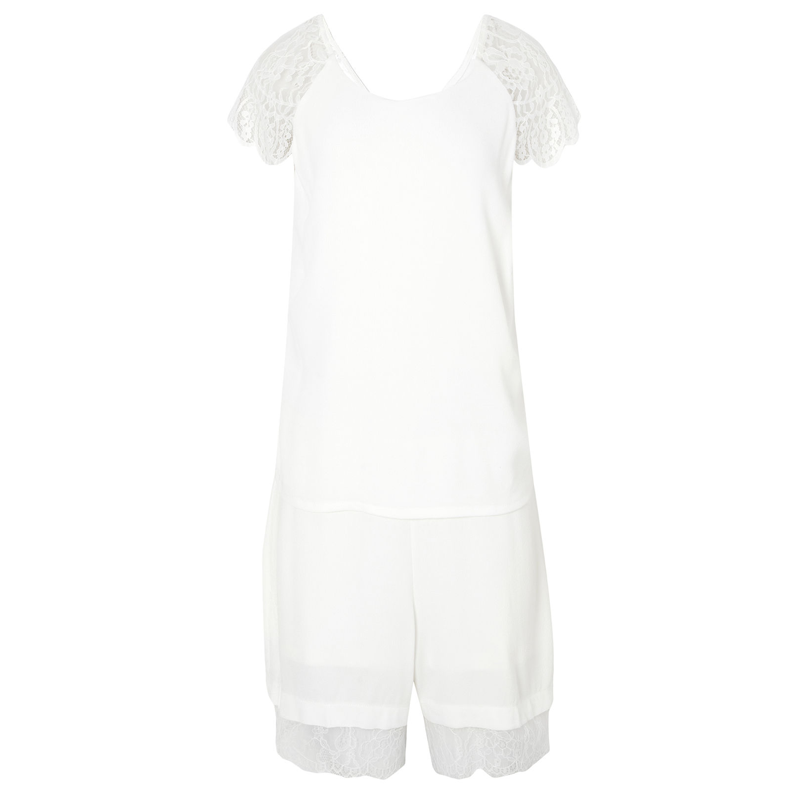 Macaquinho Sacha Renda Pop Up Store - Off White