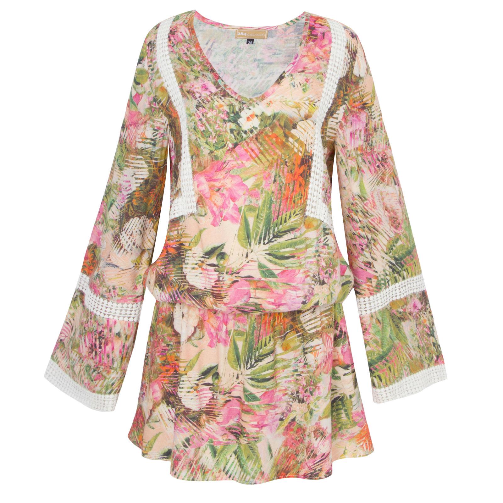 Vestido Floral Renda 284 - Rosa