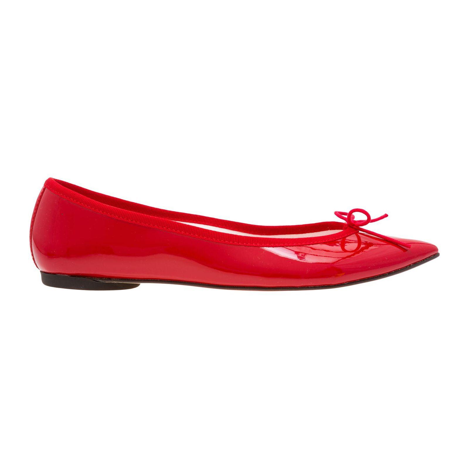 Sapatilha Brigitte Verniz - Vermelha