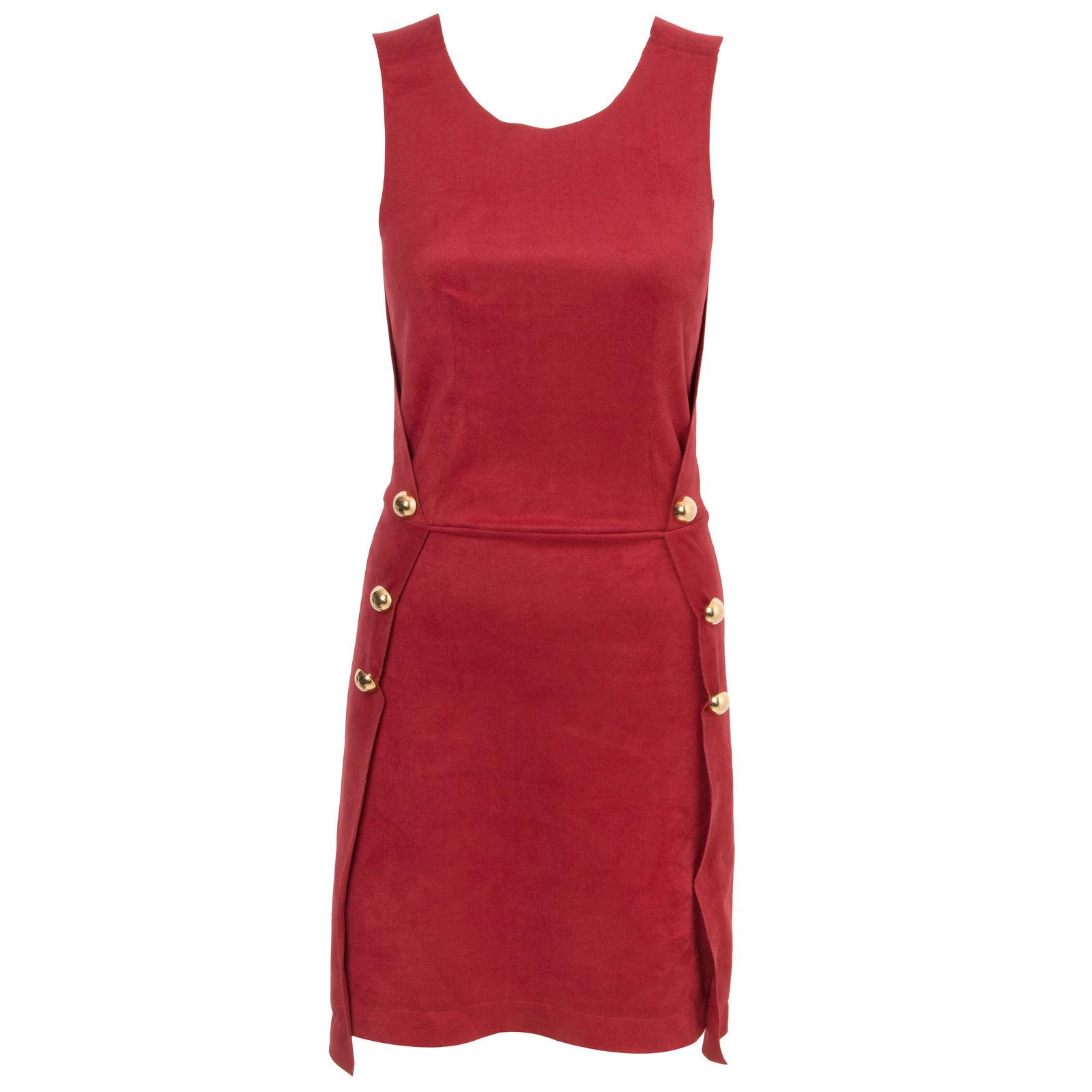 Vestido Suede - Vermelho