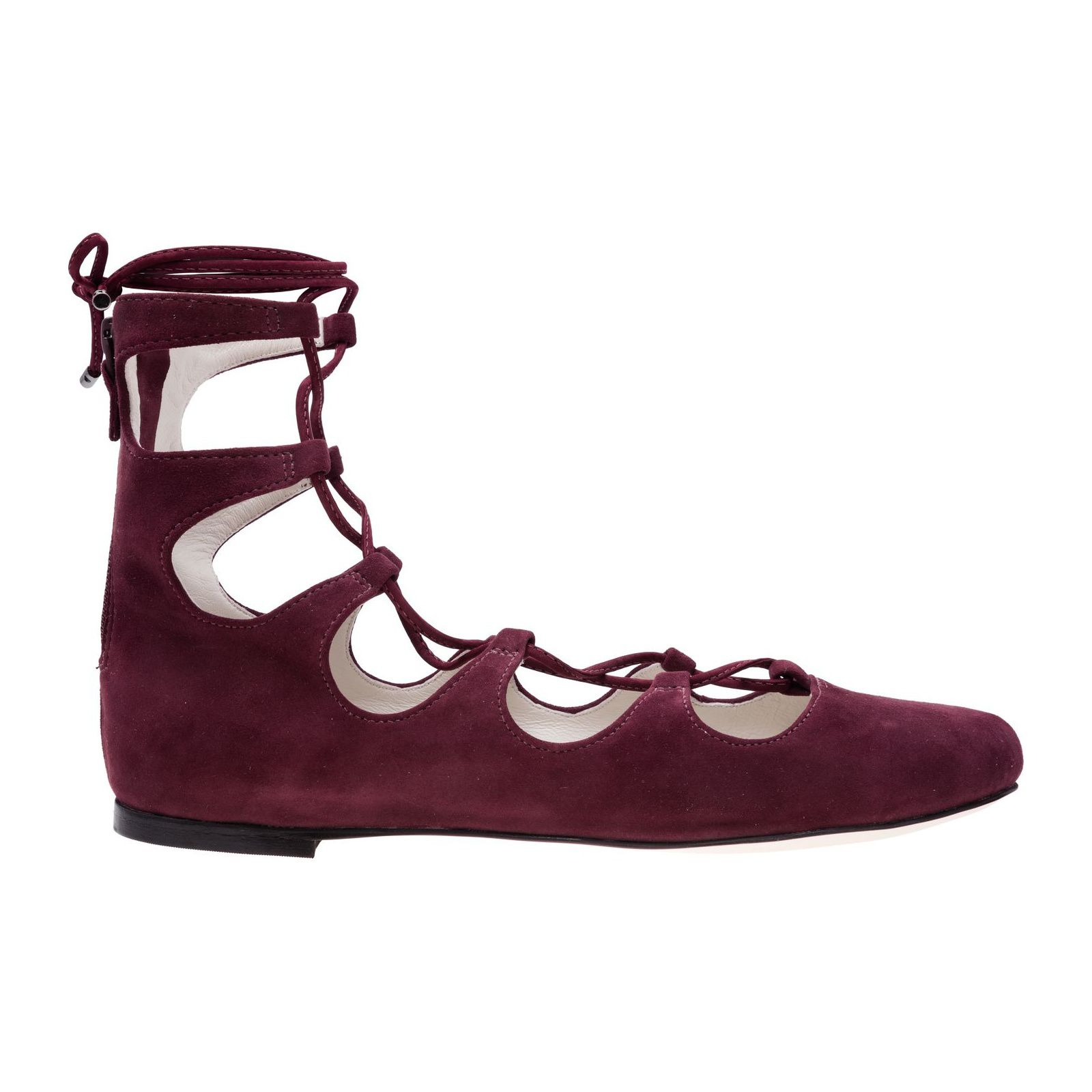 Sapatilha Lace Up Doll Vinci Shoes - Vinho