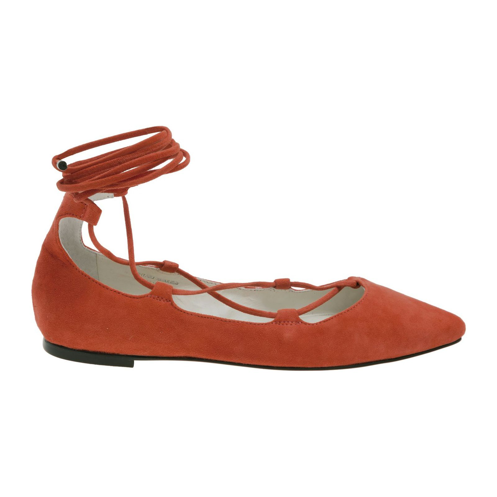 Sapatilha Lace Up Suede Vinci Shoes - Laranja