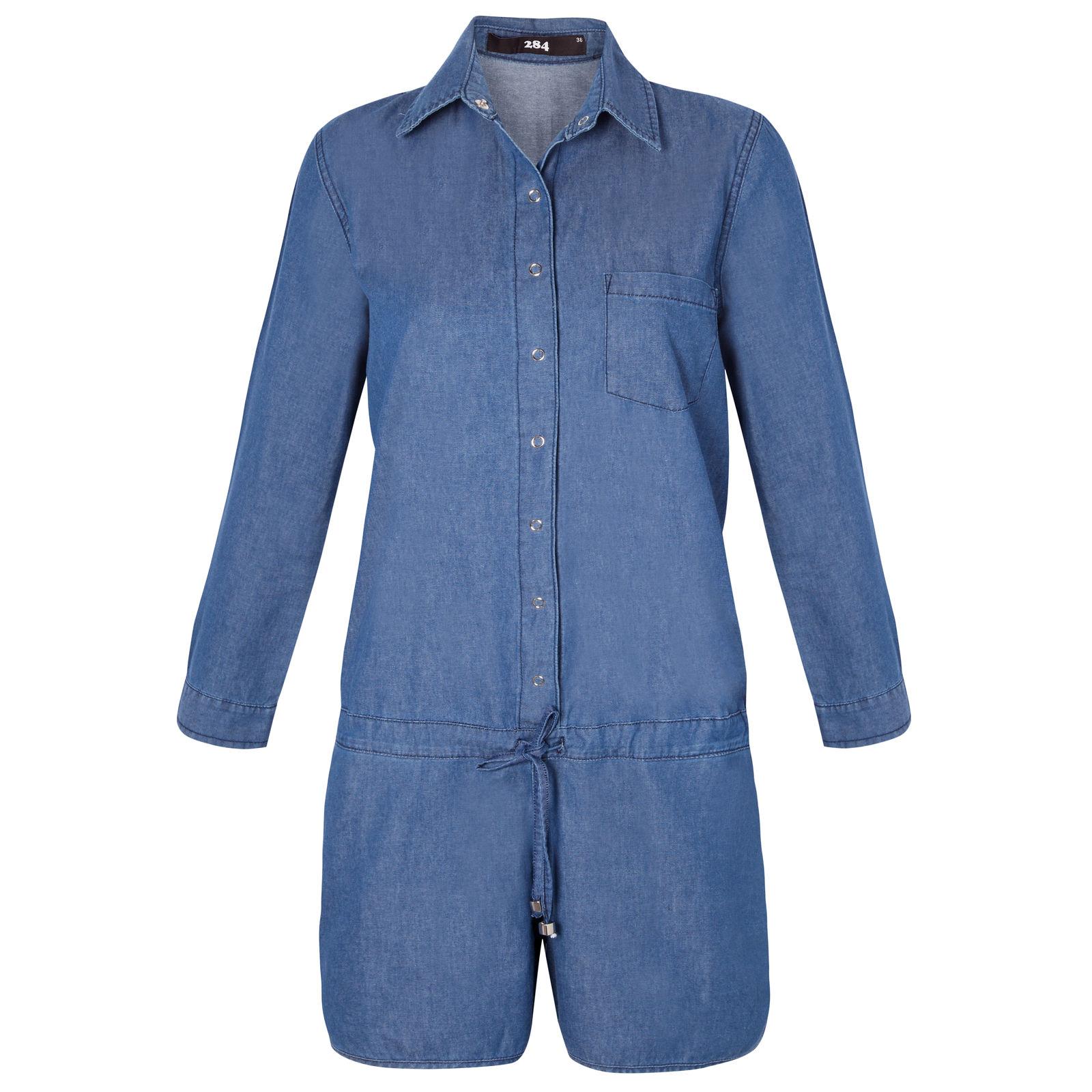 Macaquinho Jeans Boyish 284 - Azul