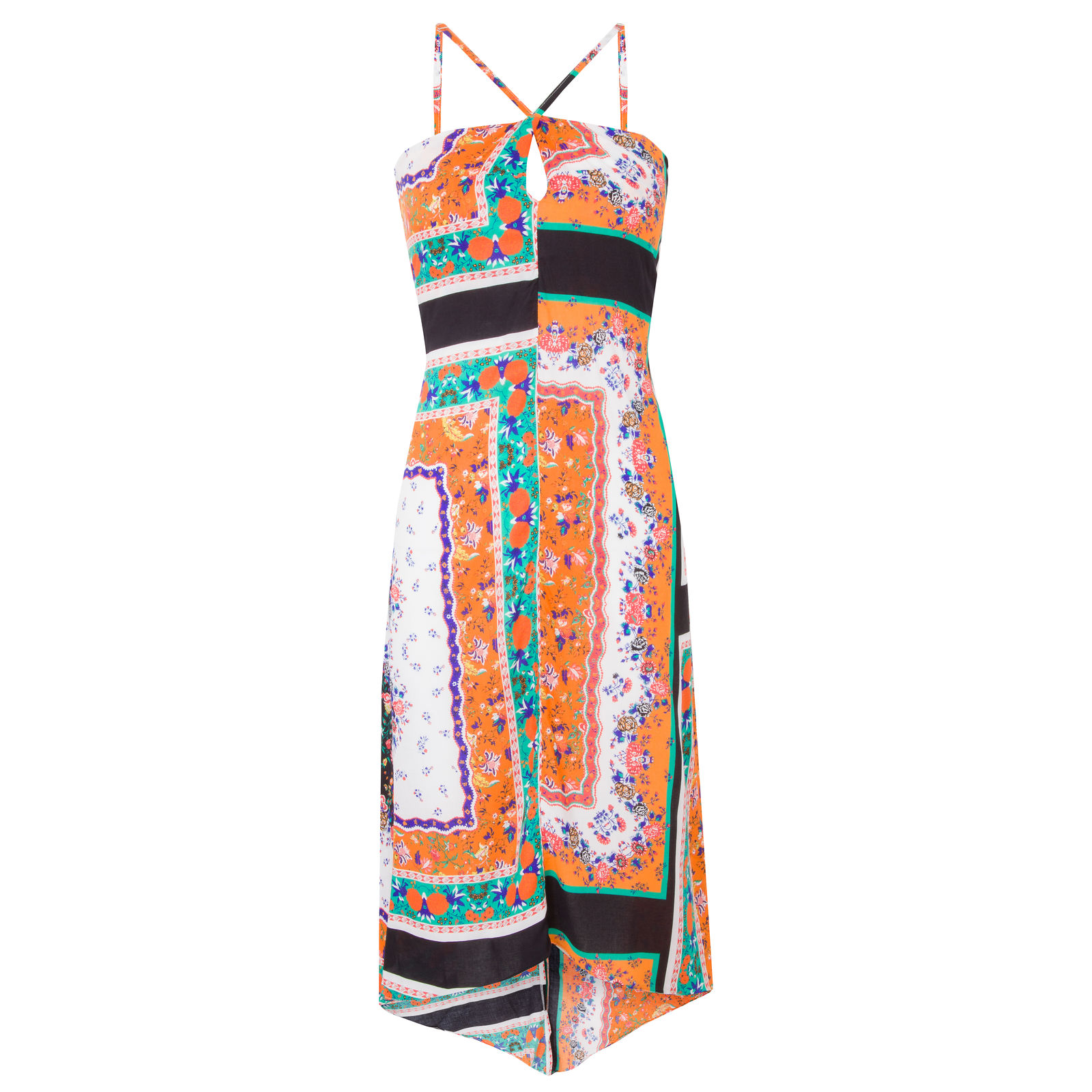 Vestido Mídi Cruzado Flora Market 33 - Laranja