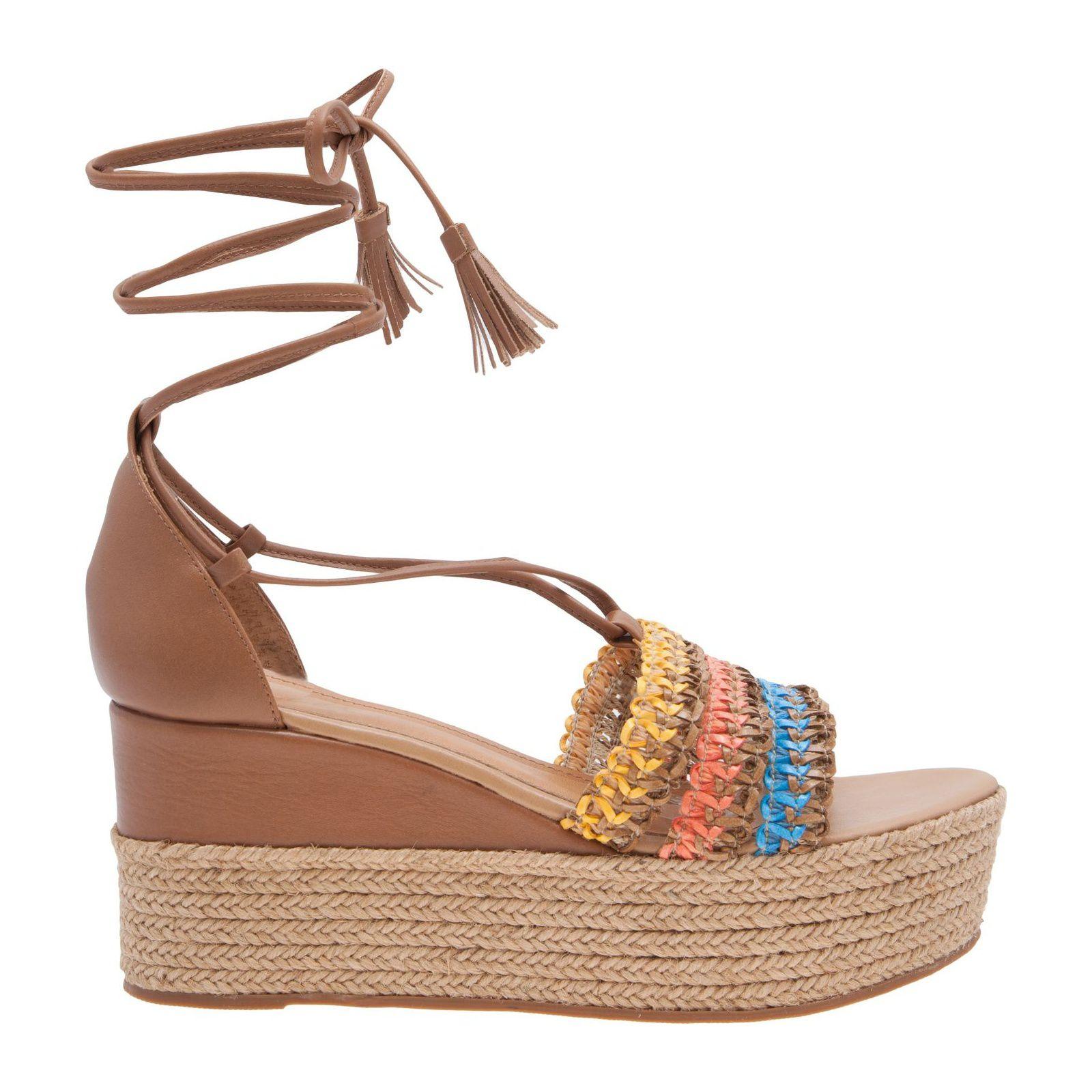 Sandália Plataforma Color Lace - Marrom