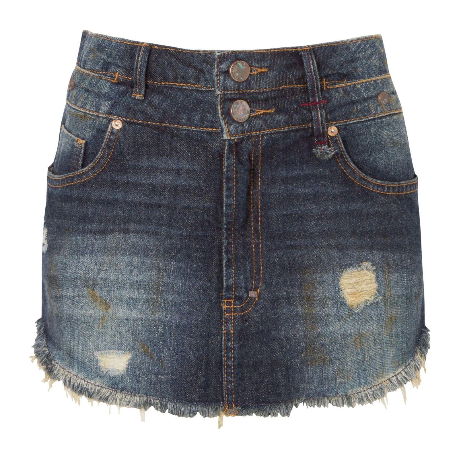 Saia Jeans Cós Duplo