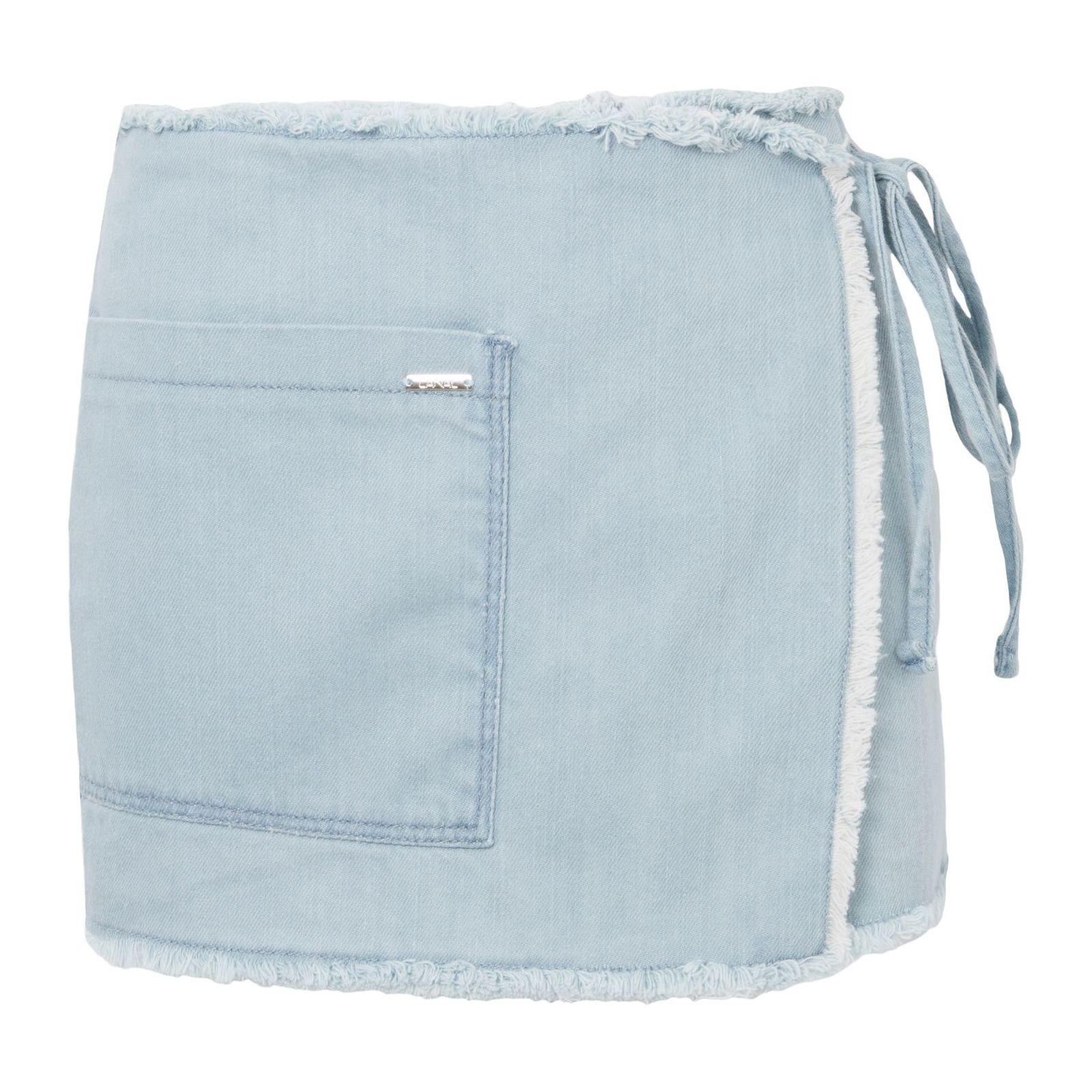 Short Saia Jeans Envelope - Azul