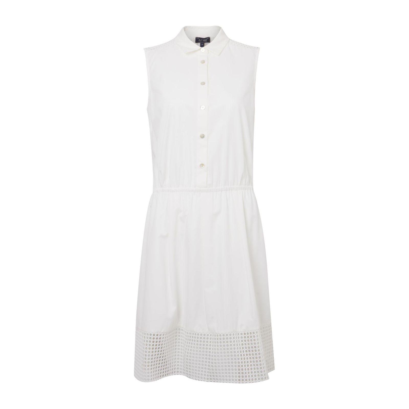 Vestido Recorte Tela - Branco