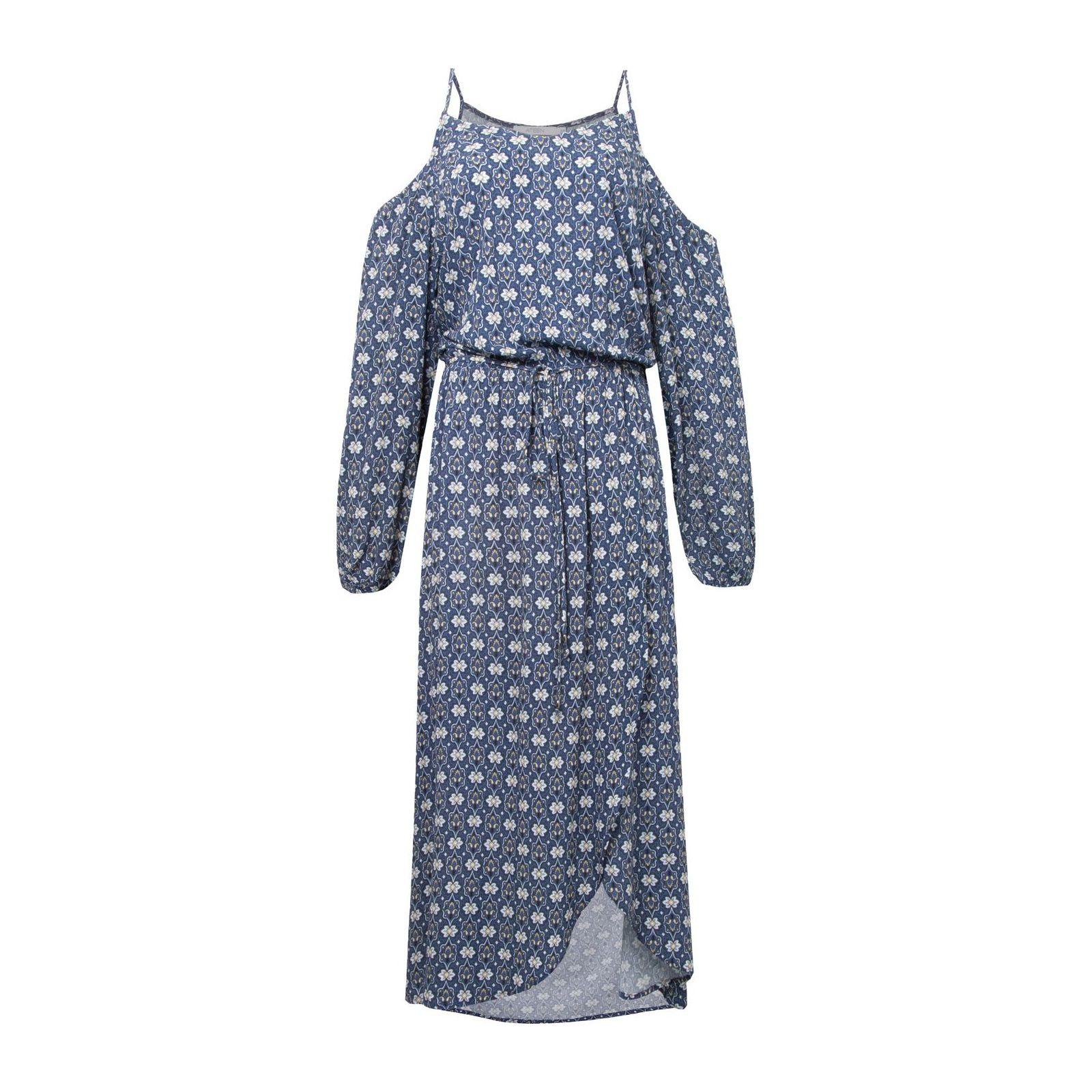 Vestido Mídi Charming Boho - Azul