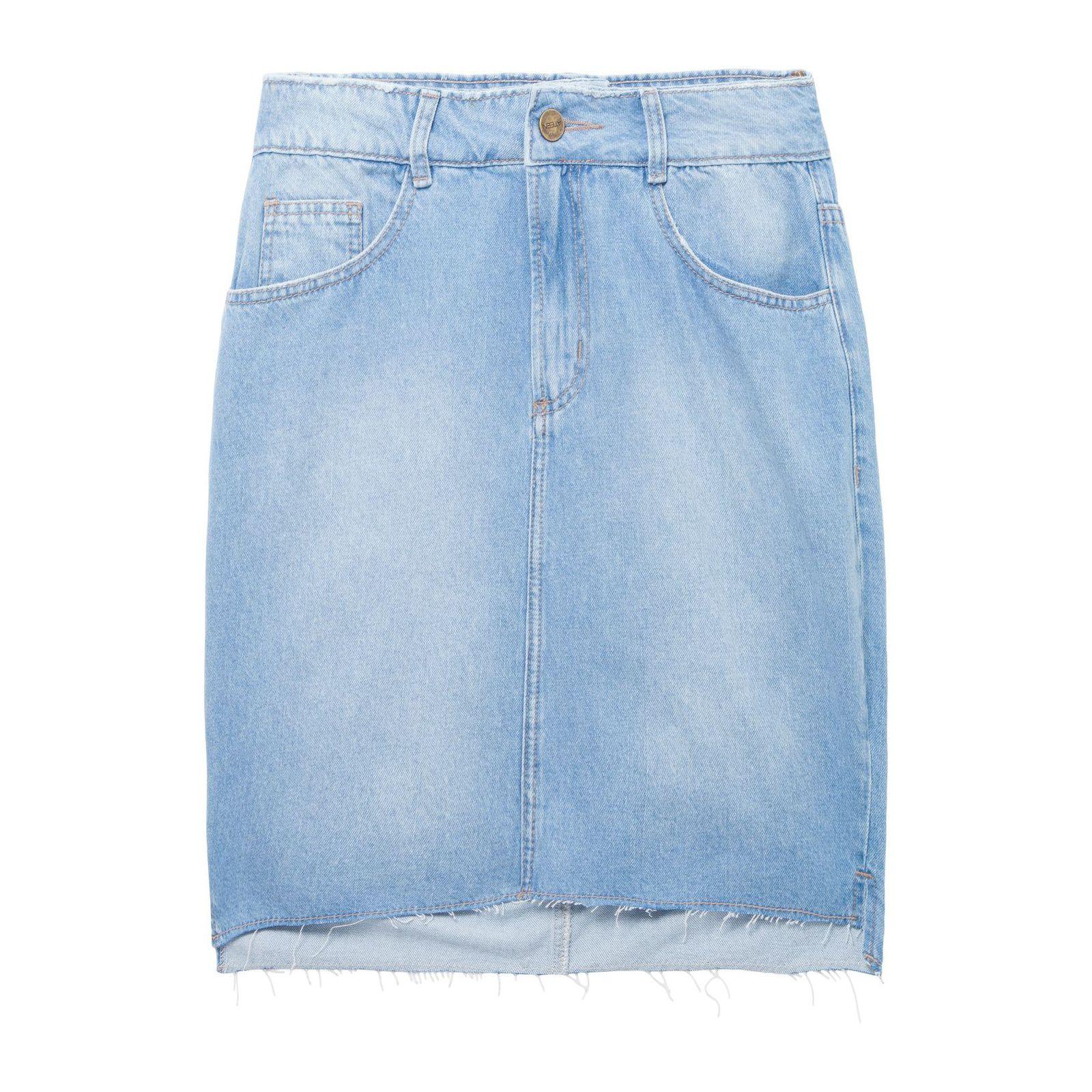 Saia Lápis Jeans - Azul
