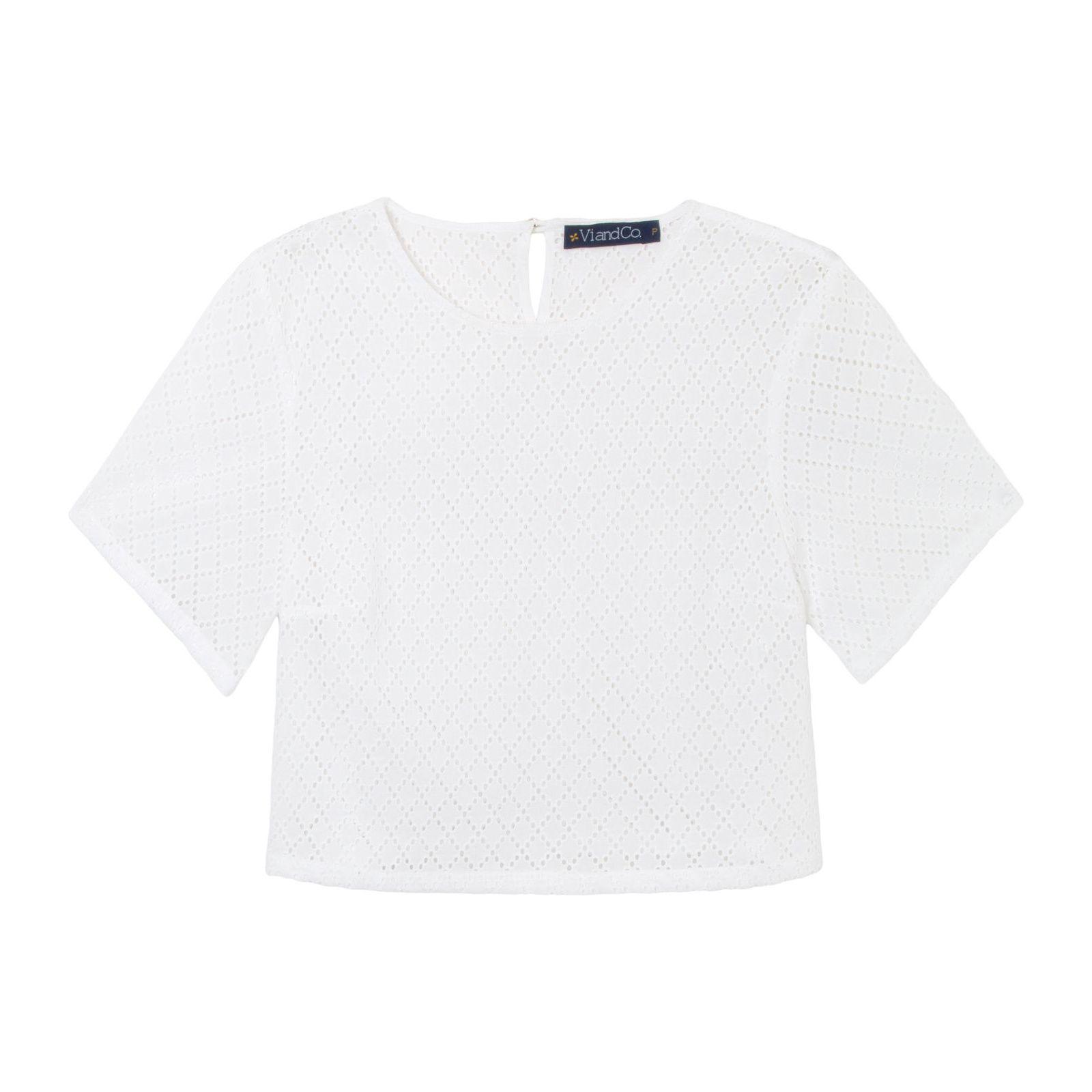 Blusa Cropped Laise - Branca