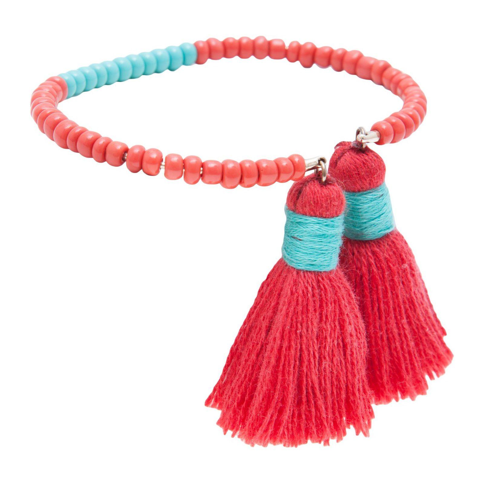 Bracelete Tassel Dime - Laranja