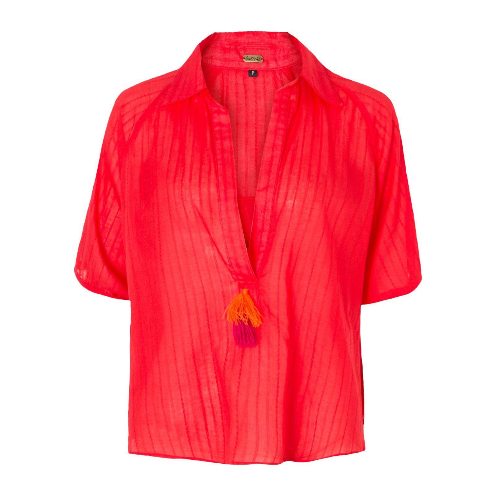 Camisa Cavallete Tassel - Vermelha
