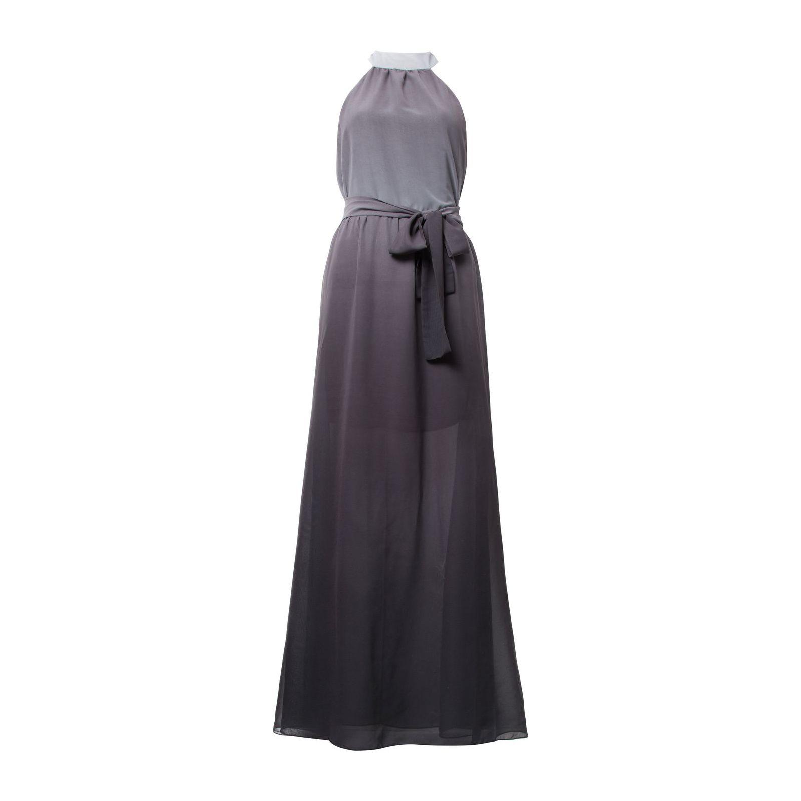 Vestido Longo Degradê - Cinza