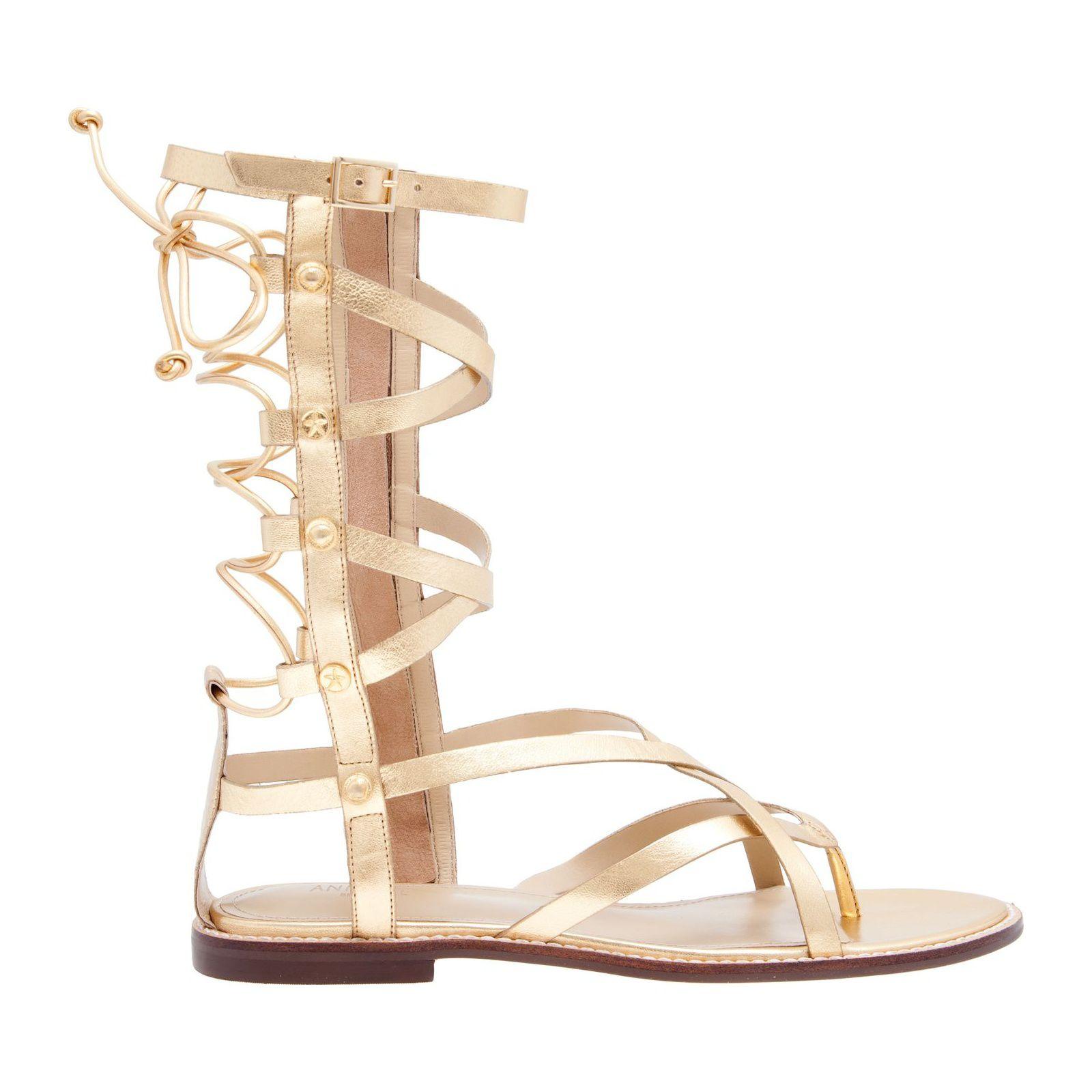 Sandália Gladiadora Metalic - Dourada