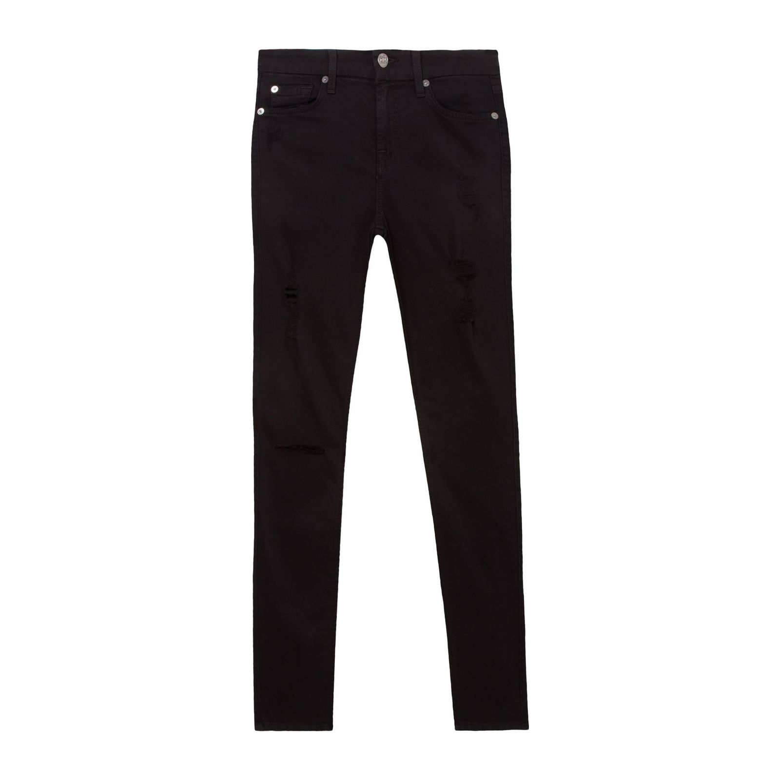 Calça Jeans The Ankle Skinny Destroyed - Preta