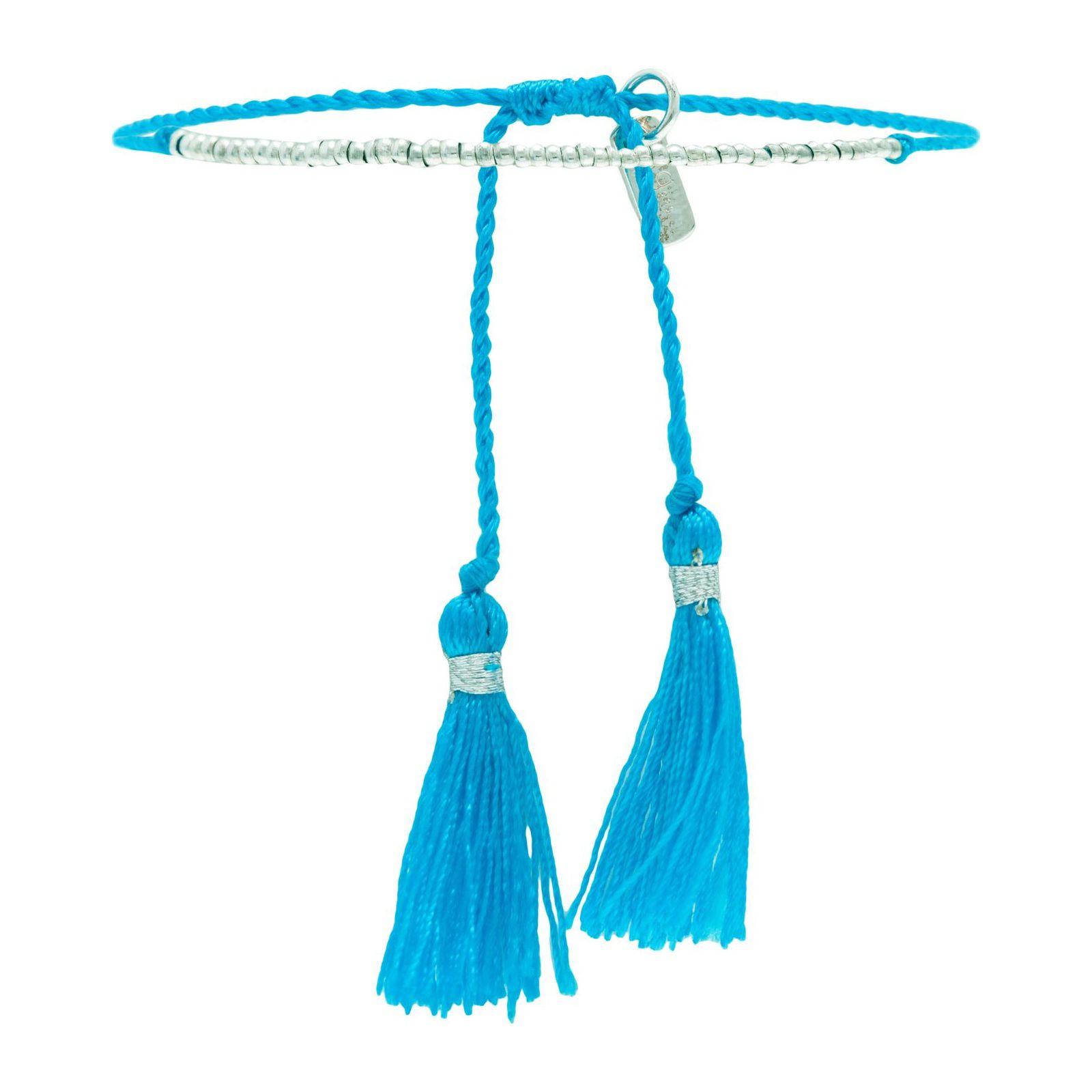 Pulseira Penacho Flúor - Azul