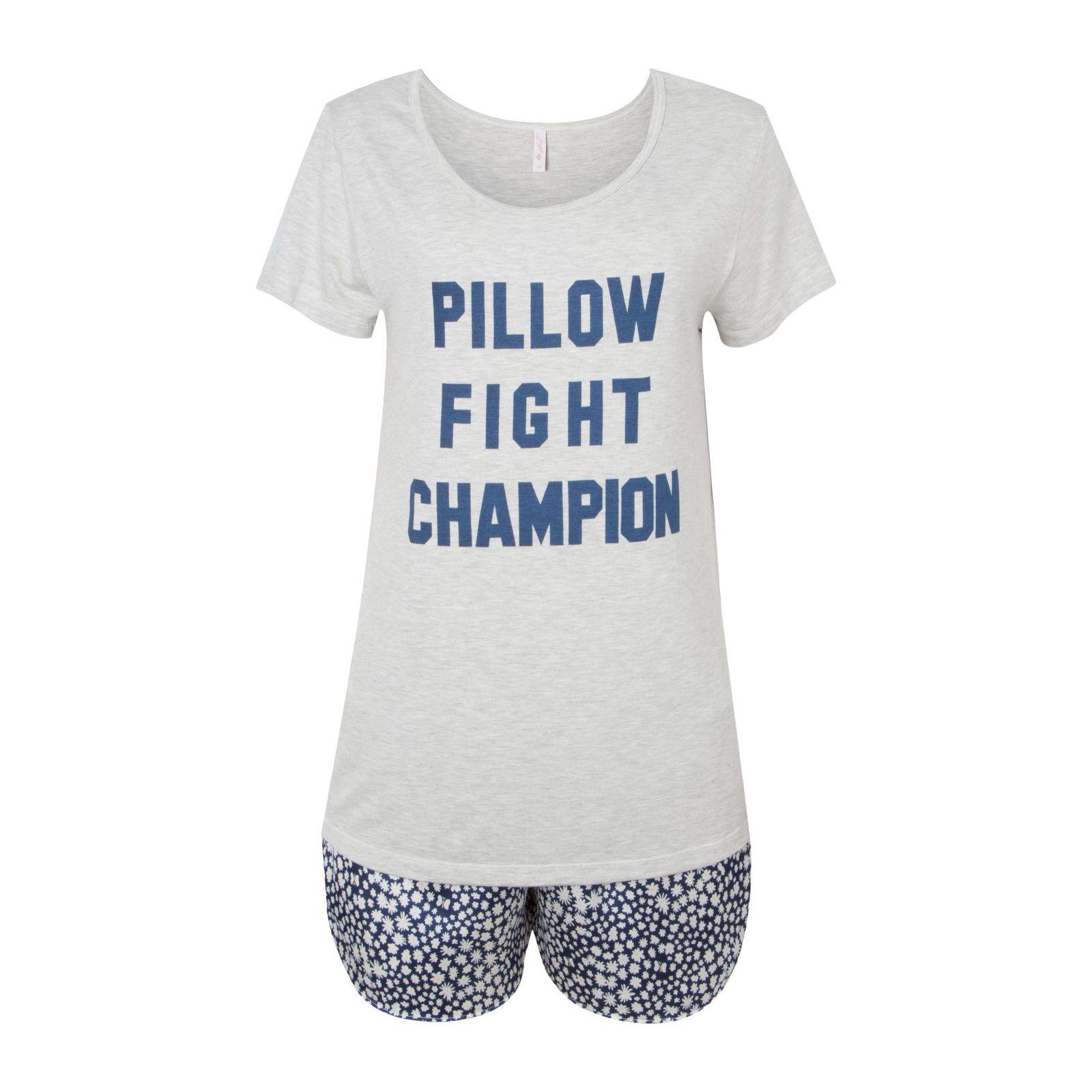Pijama Malha Spring - Cinza