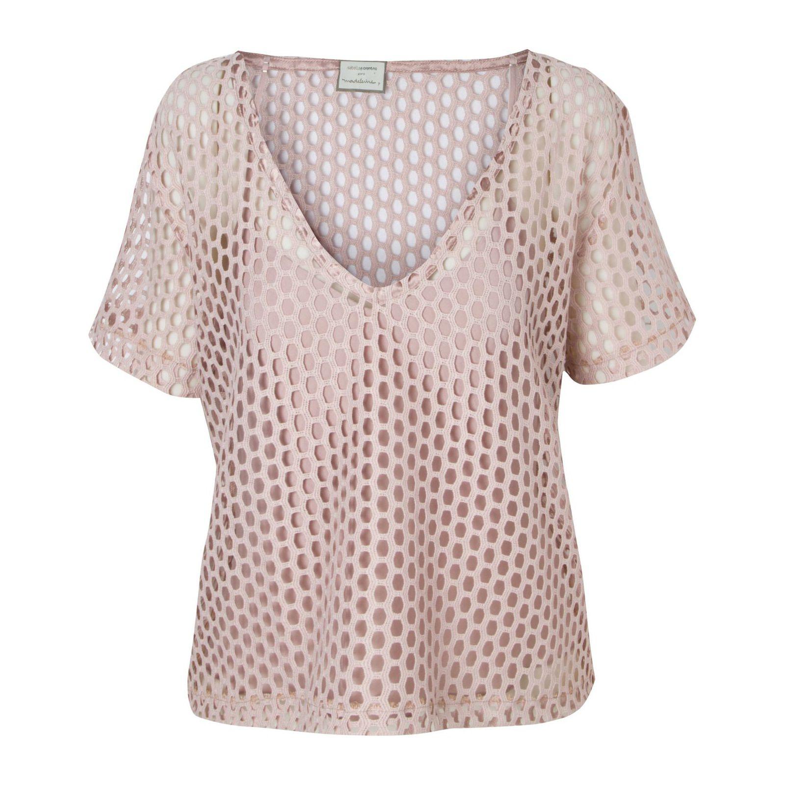 Blusa Cropped Favo De Mel Isabella Fiorentino