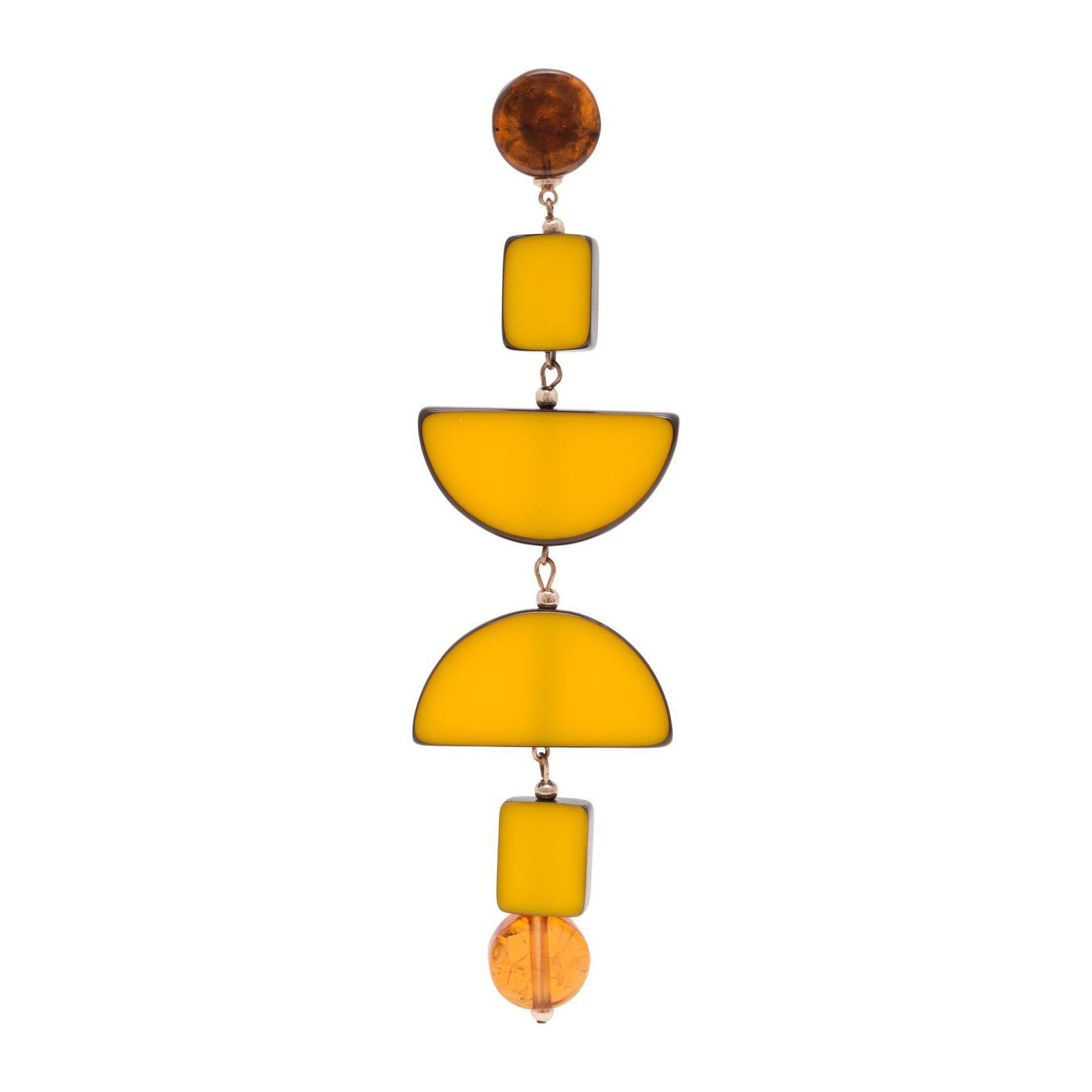 Brinco Unitário Cetus - Amarelo