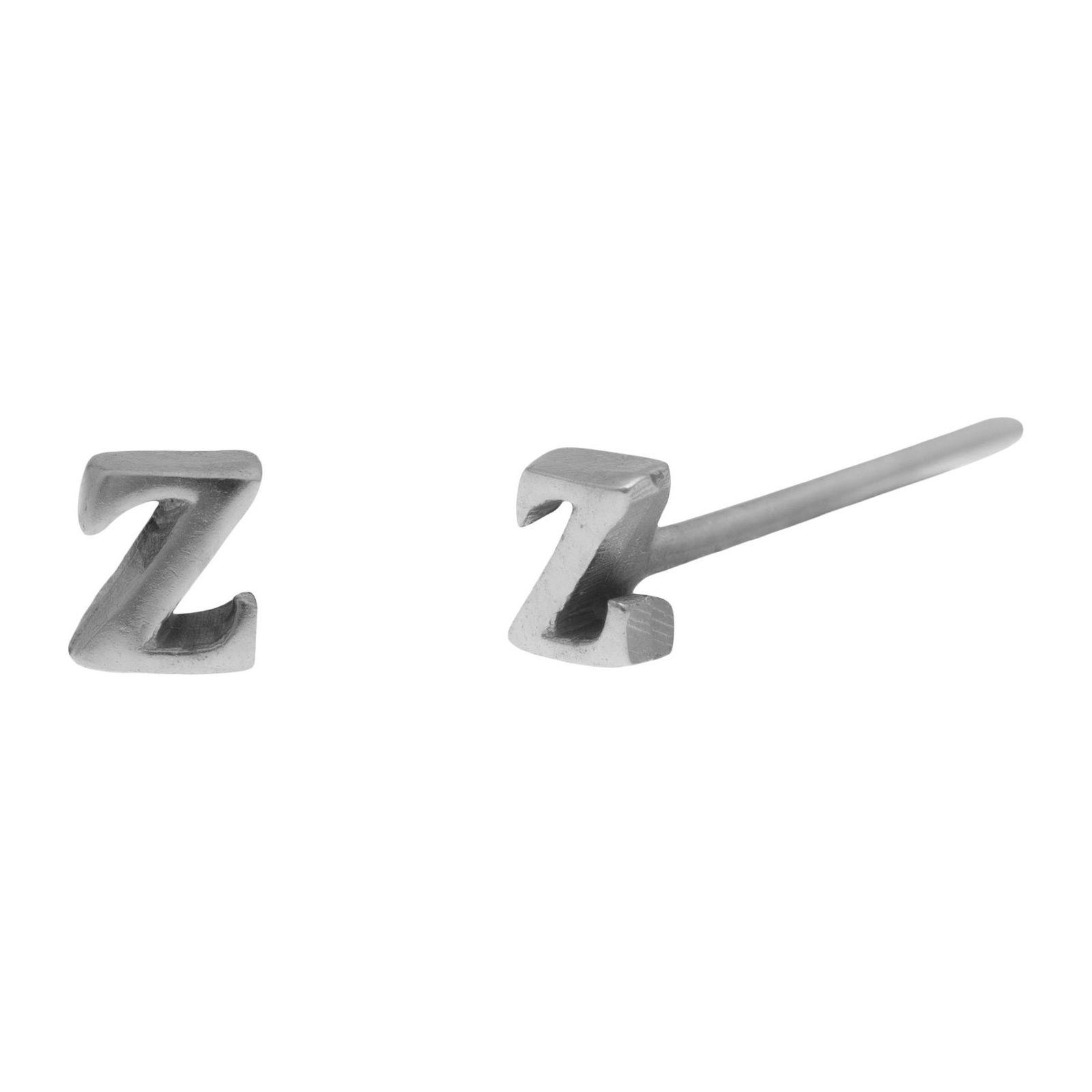 Brinco Unitário Inicial Z - Prateado