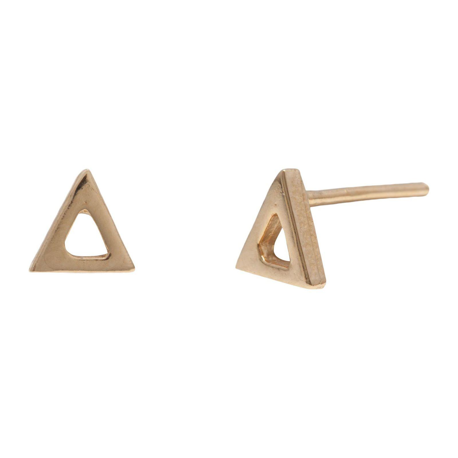 Brinco Unitário Triângulo - Dourado