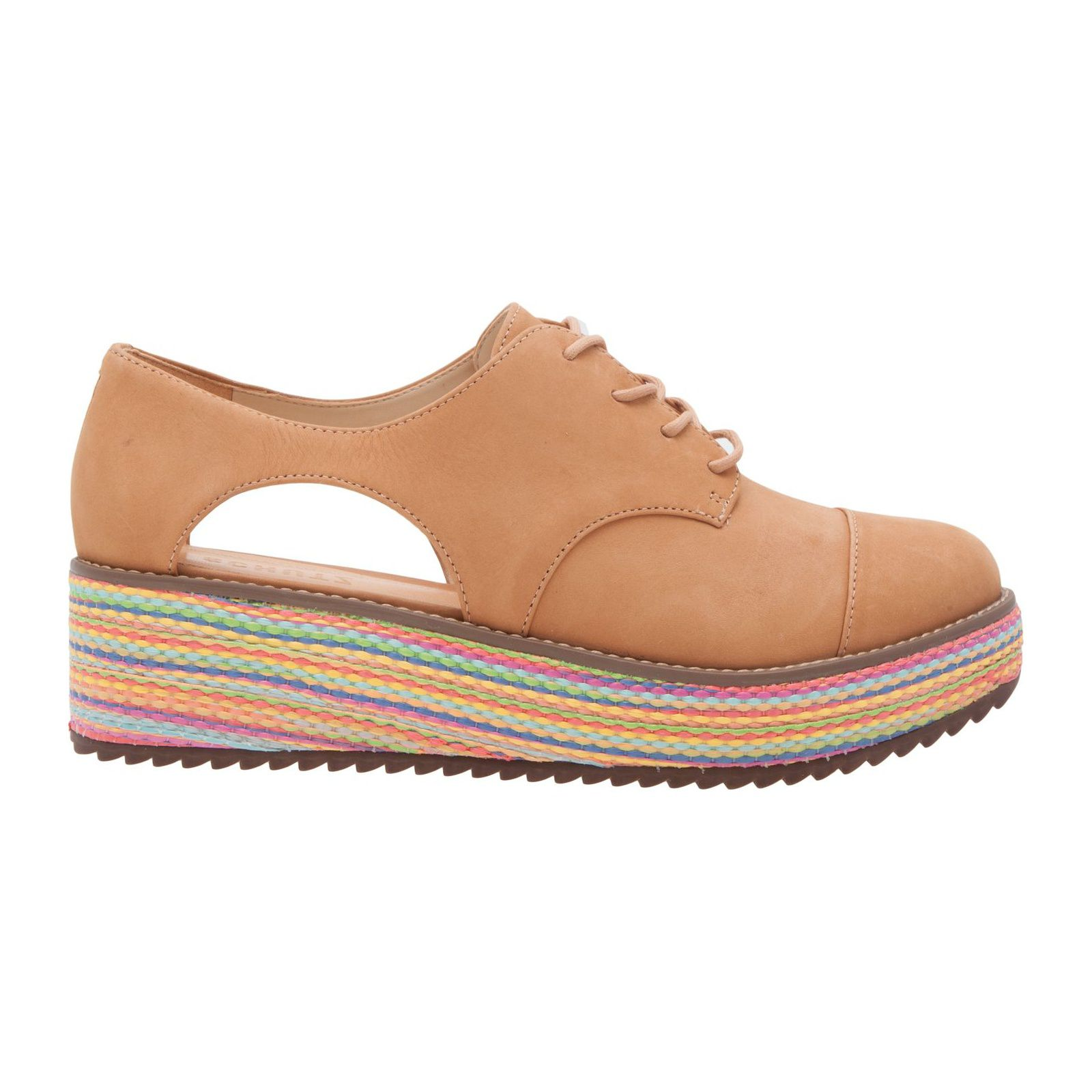 Oxford Flatform Cut Out Desert - Marrom