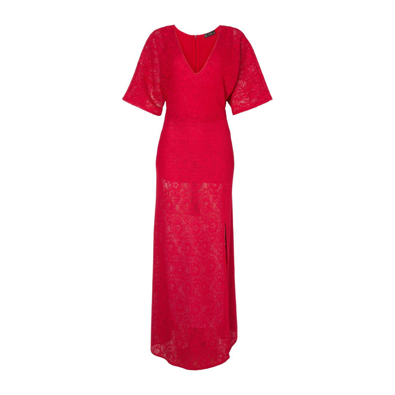 Vestido Longo Renda Cherry - Vermelho