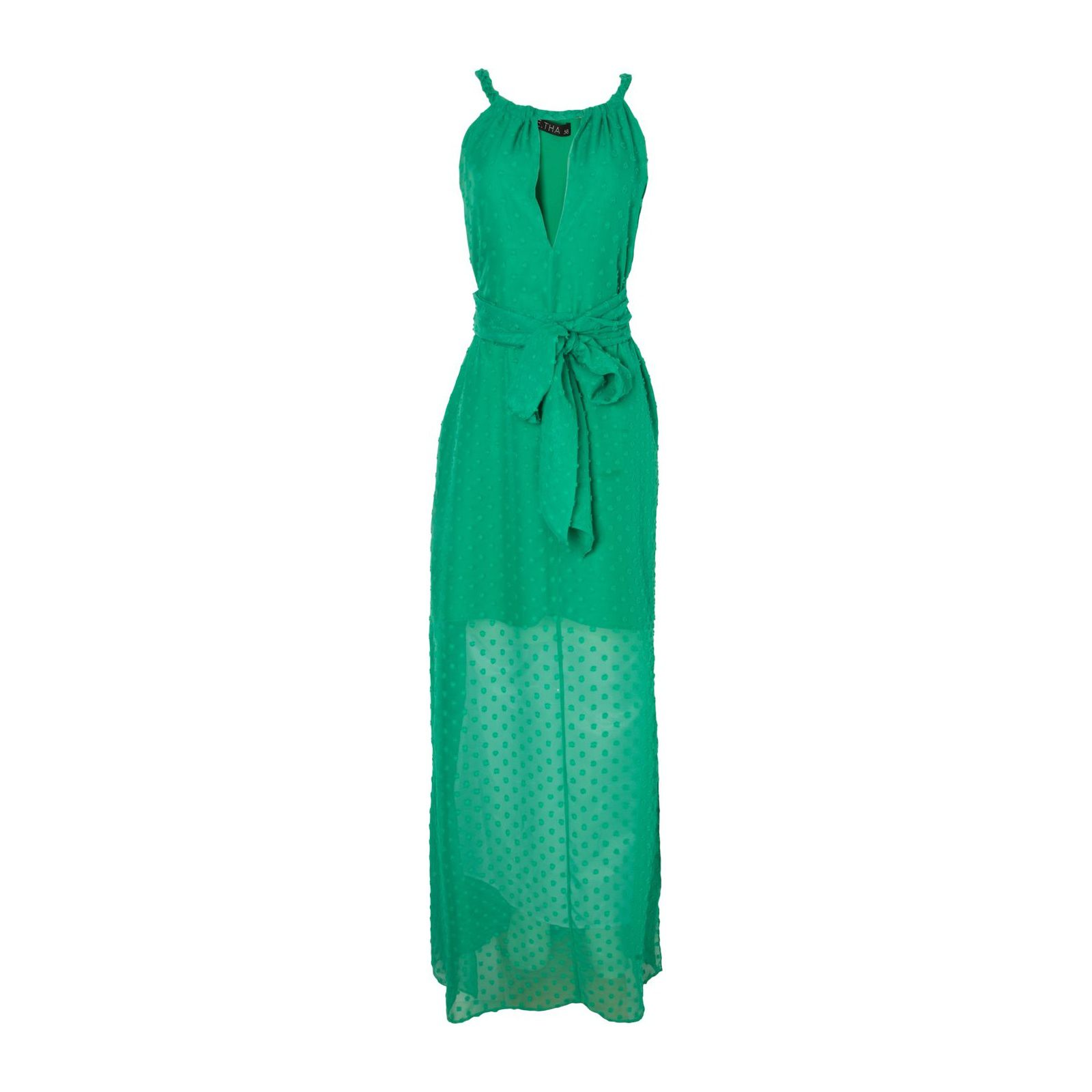 Vestido Longo Poás Trança - Verde