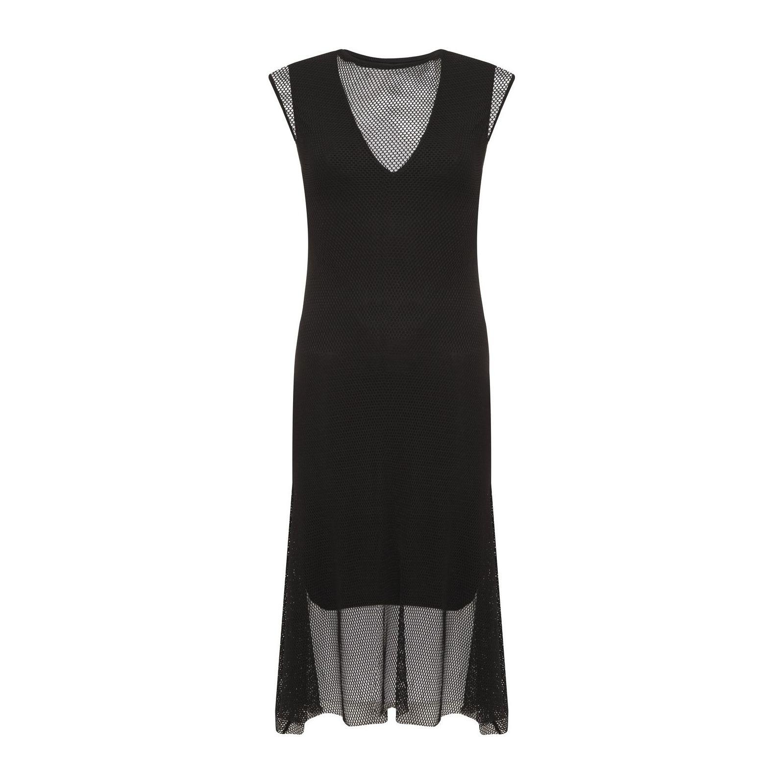 Vestido Tela Mídi - Preto