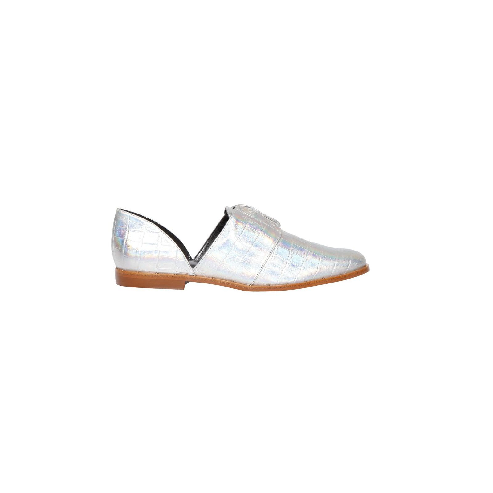 Oxford Eloise Croco Holographic - Prata