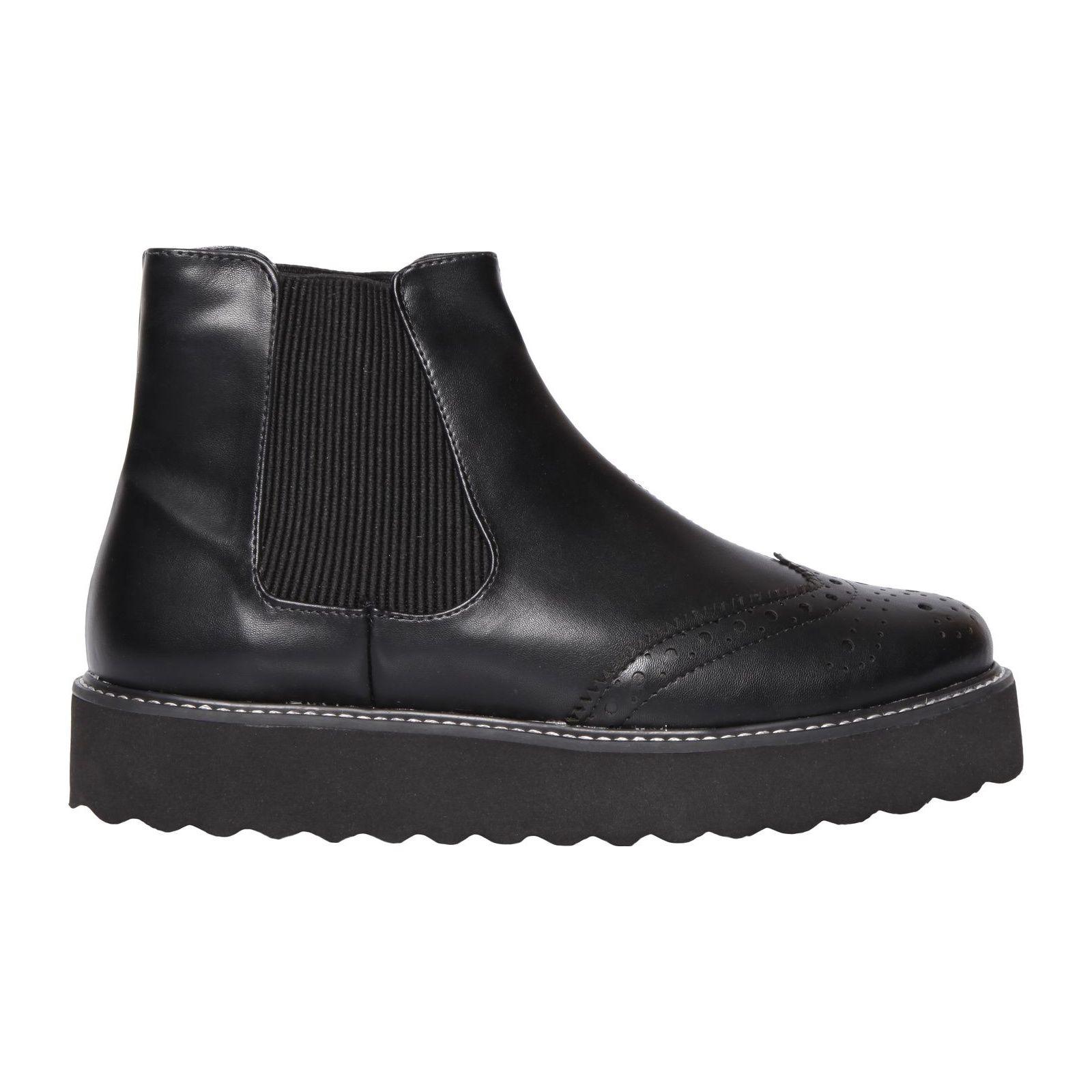 Chelsea Boot Flatform Oxford - Preta