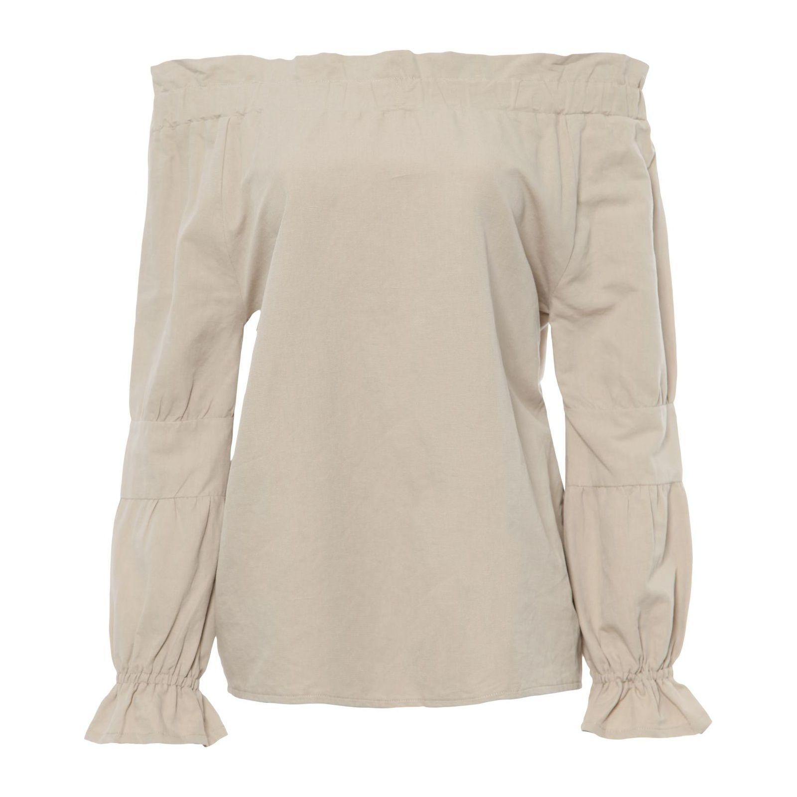 Blusa Ombro A Ombro Isabella Fiorentino - Bege