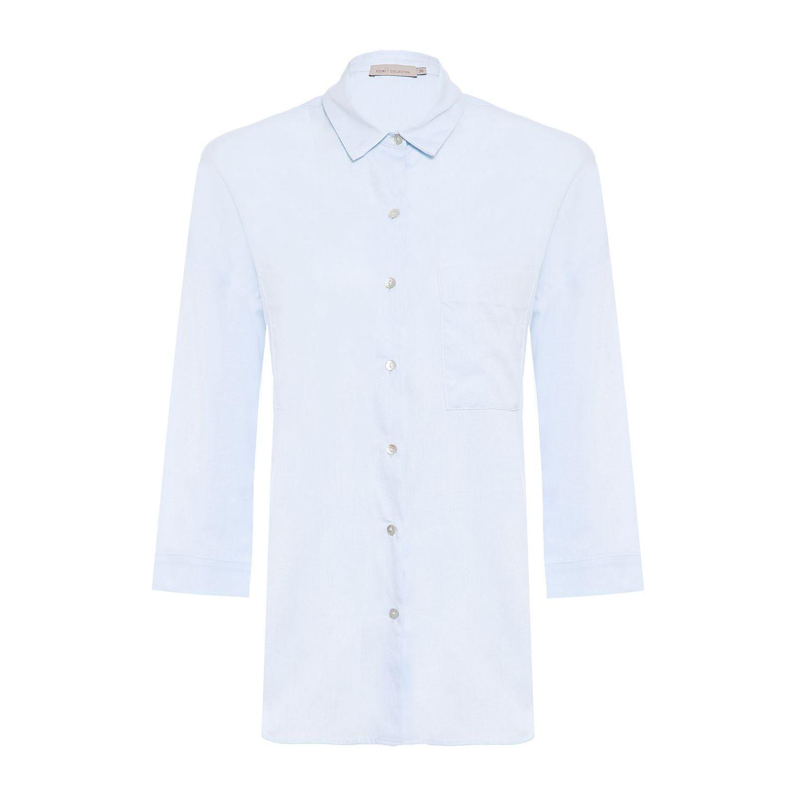 Camisa Tricoline - Azul