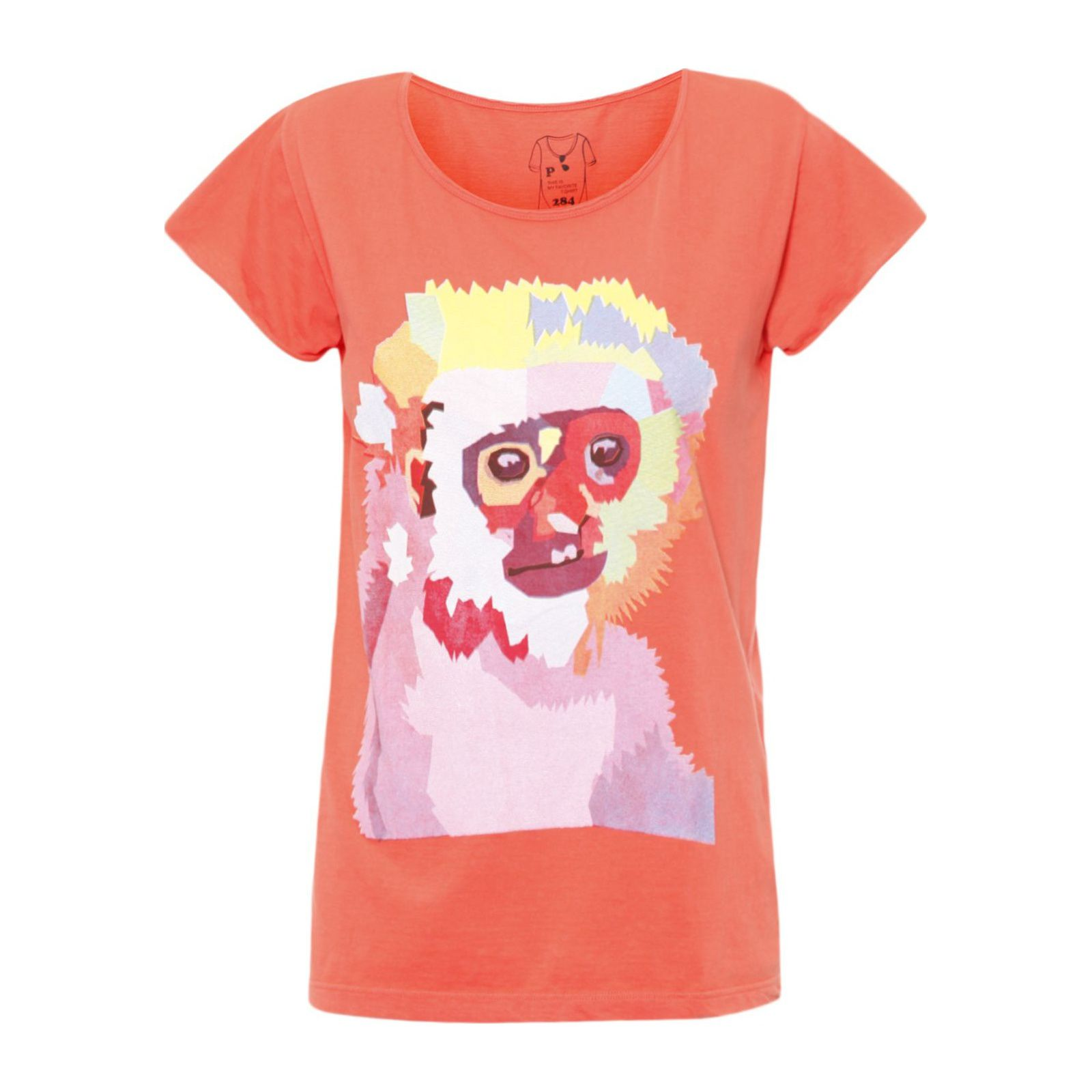 T-Shirt Colorful Monkey - Laranja