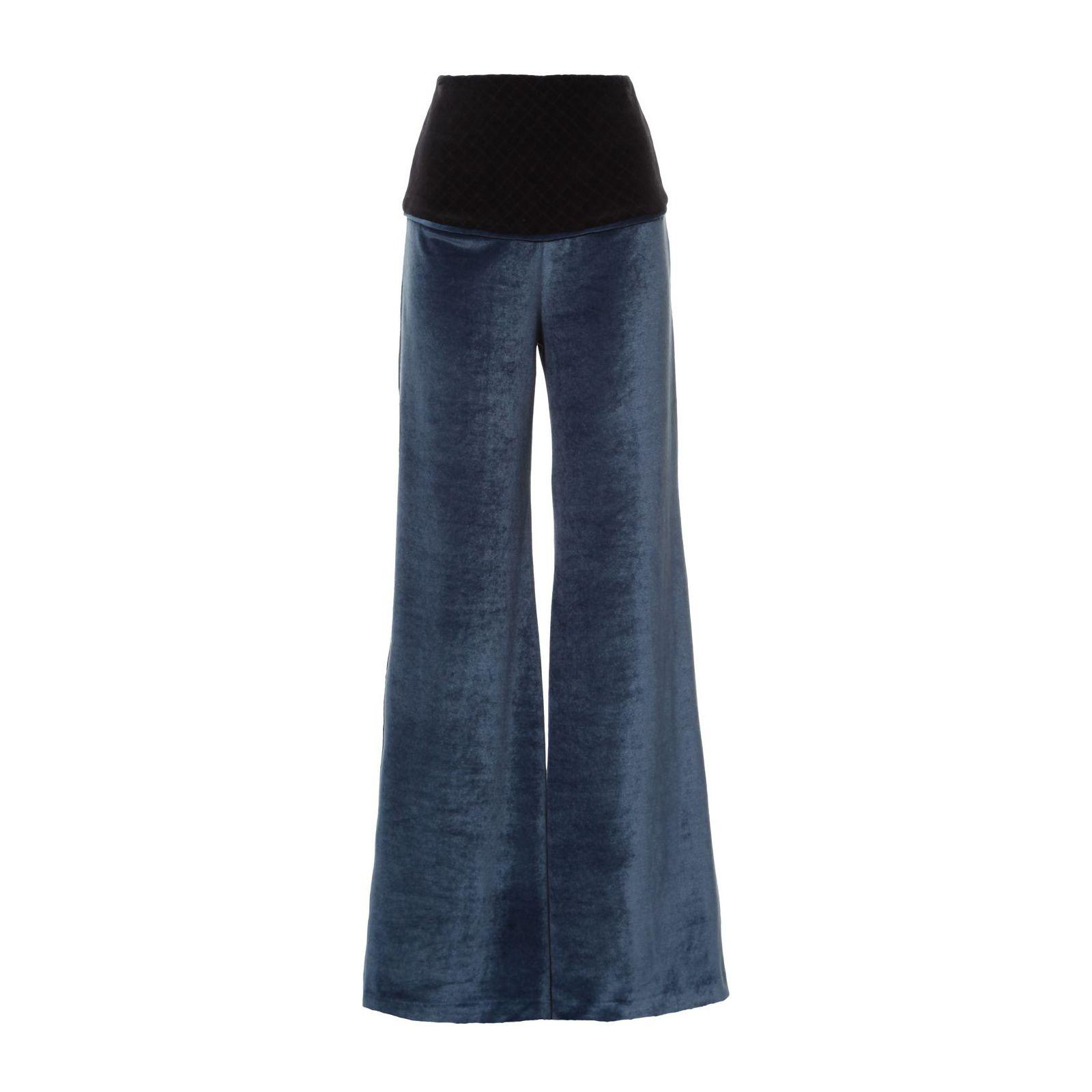Calça Pantalona Plush - Azul