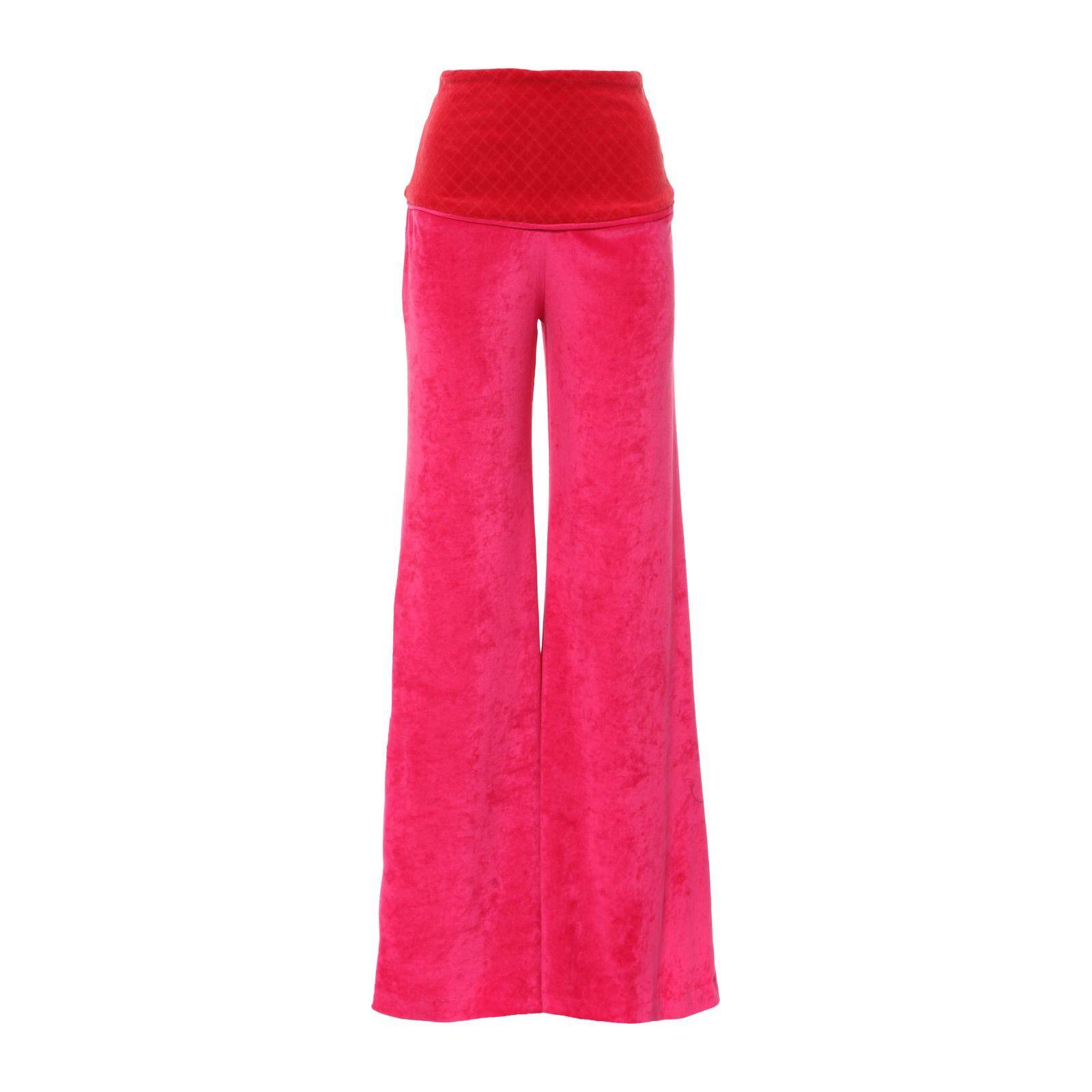Calça Pantalona Plush - Rosa