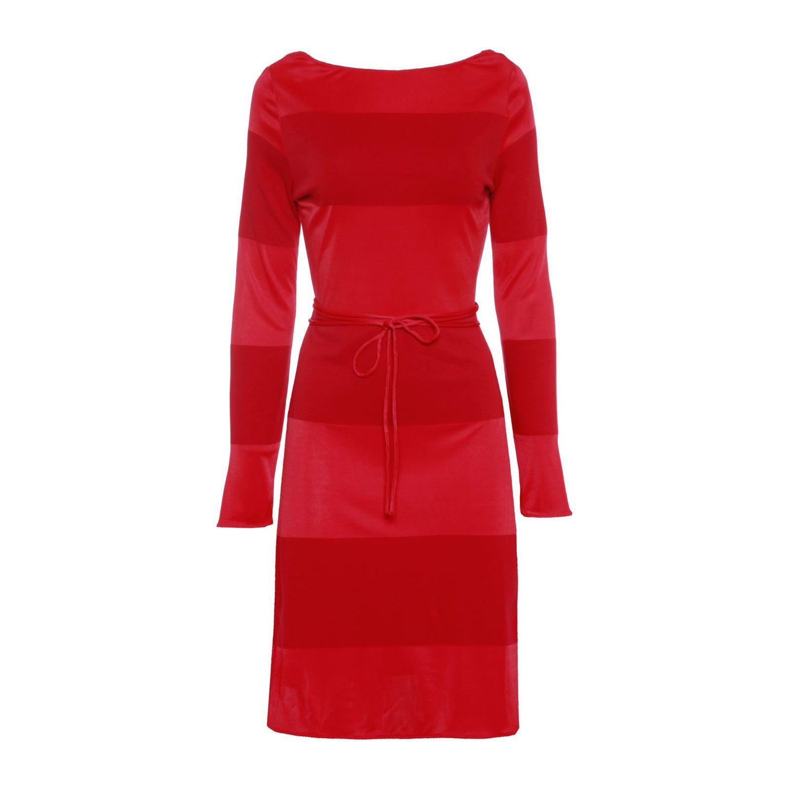 Vestido Stripes Gigi Hadid - Vermelho