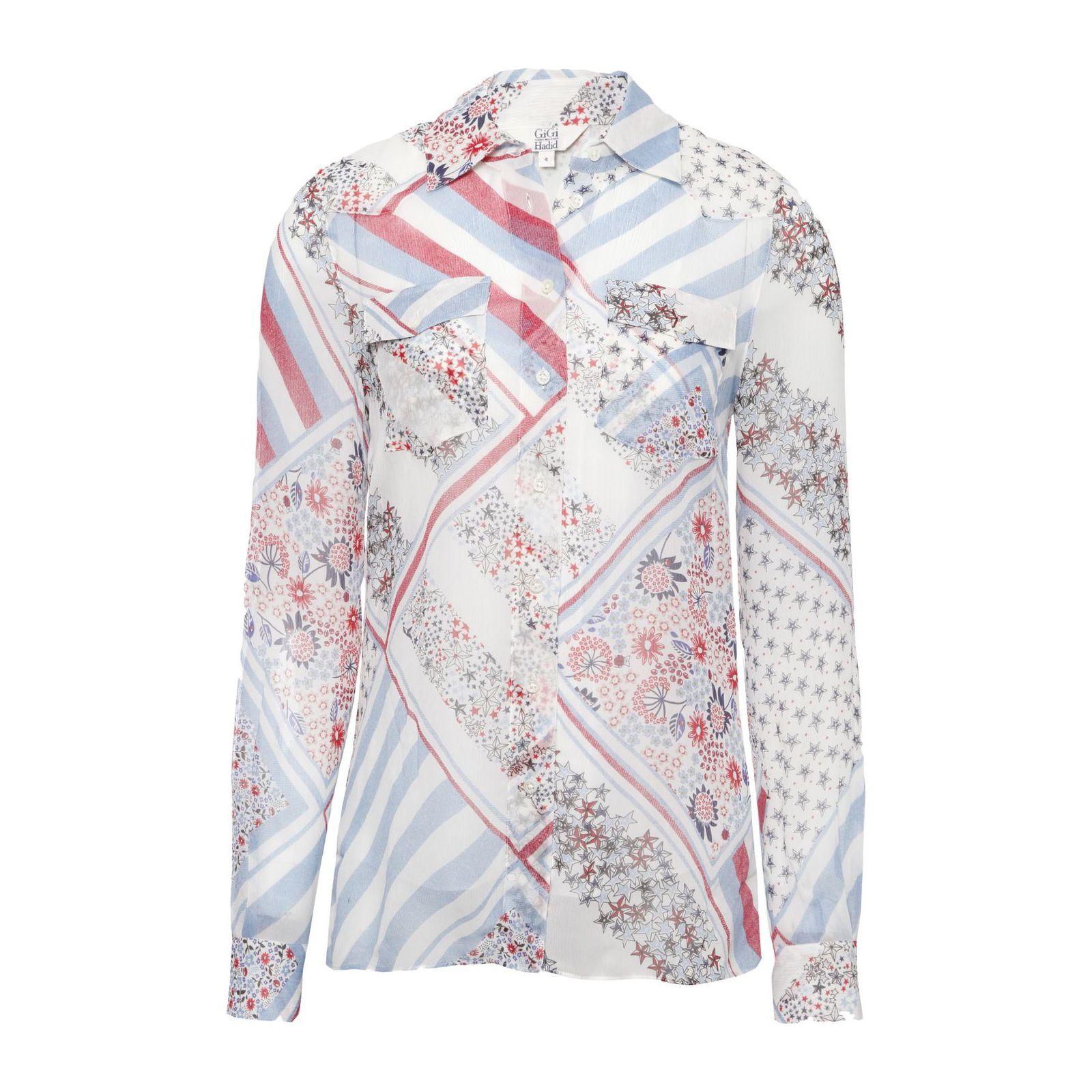 Camisa Estampada Seda Gigi Hadid