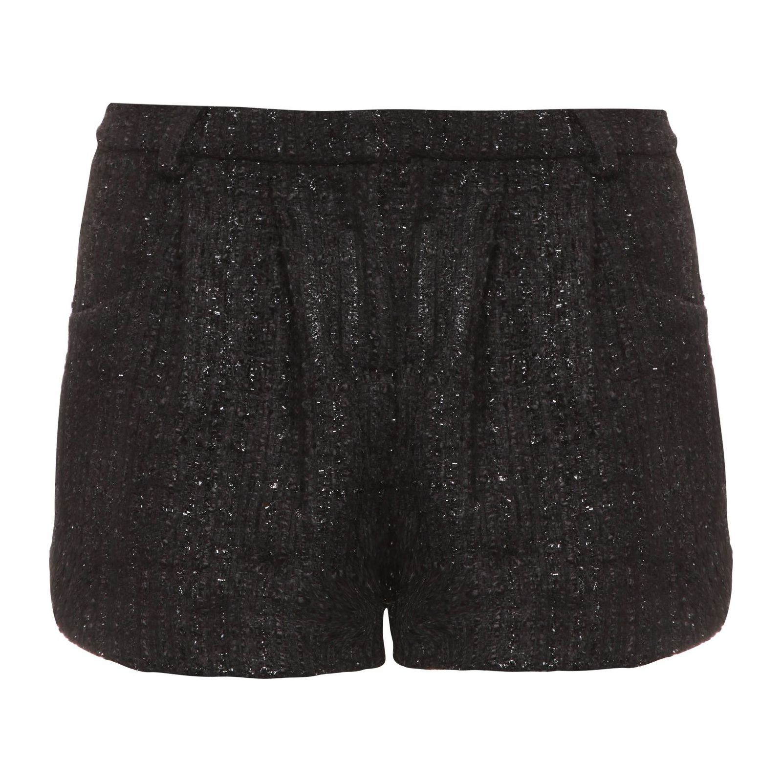 Short Tweed Xadrez - Preto