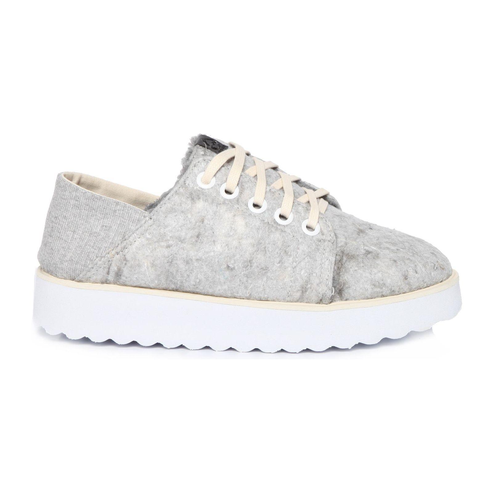 Tênis Way Sneaker Feltro - Cinza