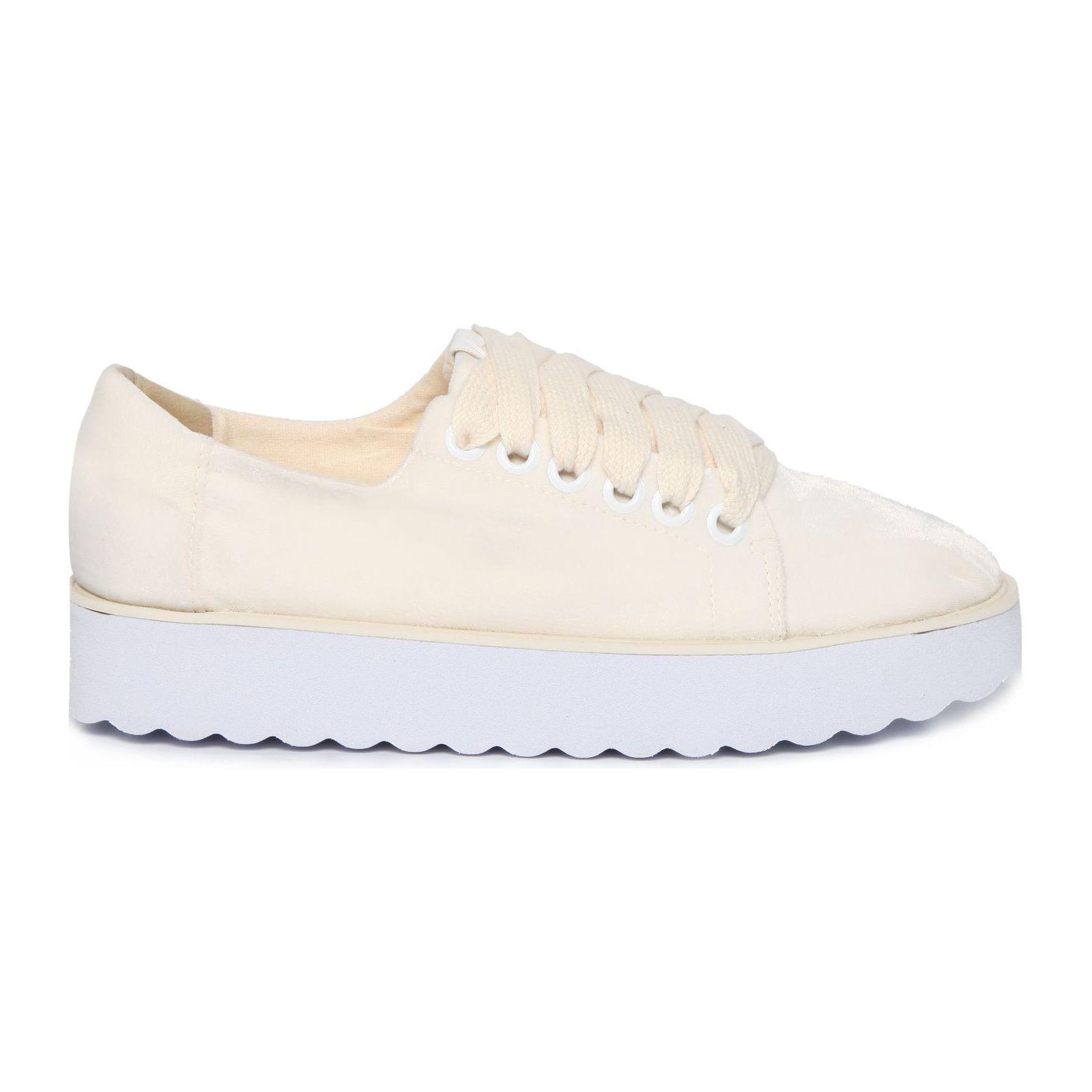 Tênis Way Sneaker Veludo - Bege