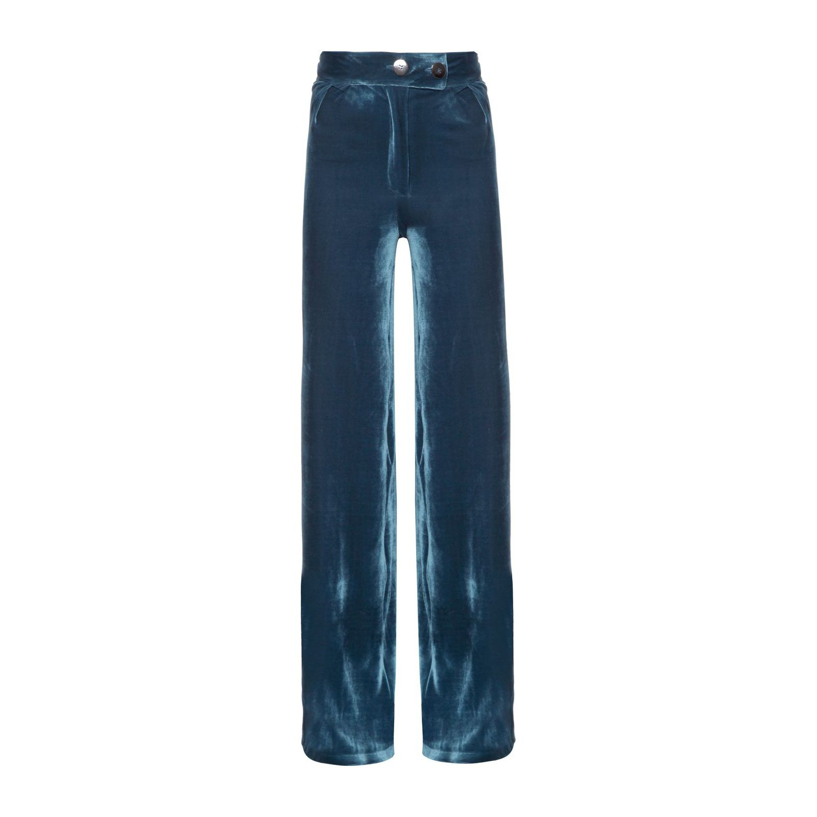 Calça Pantalona Veludo Isabella Fiorentino - Azul