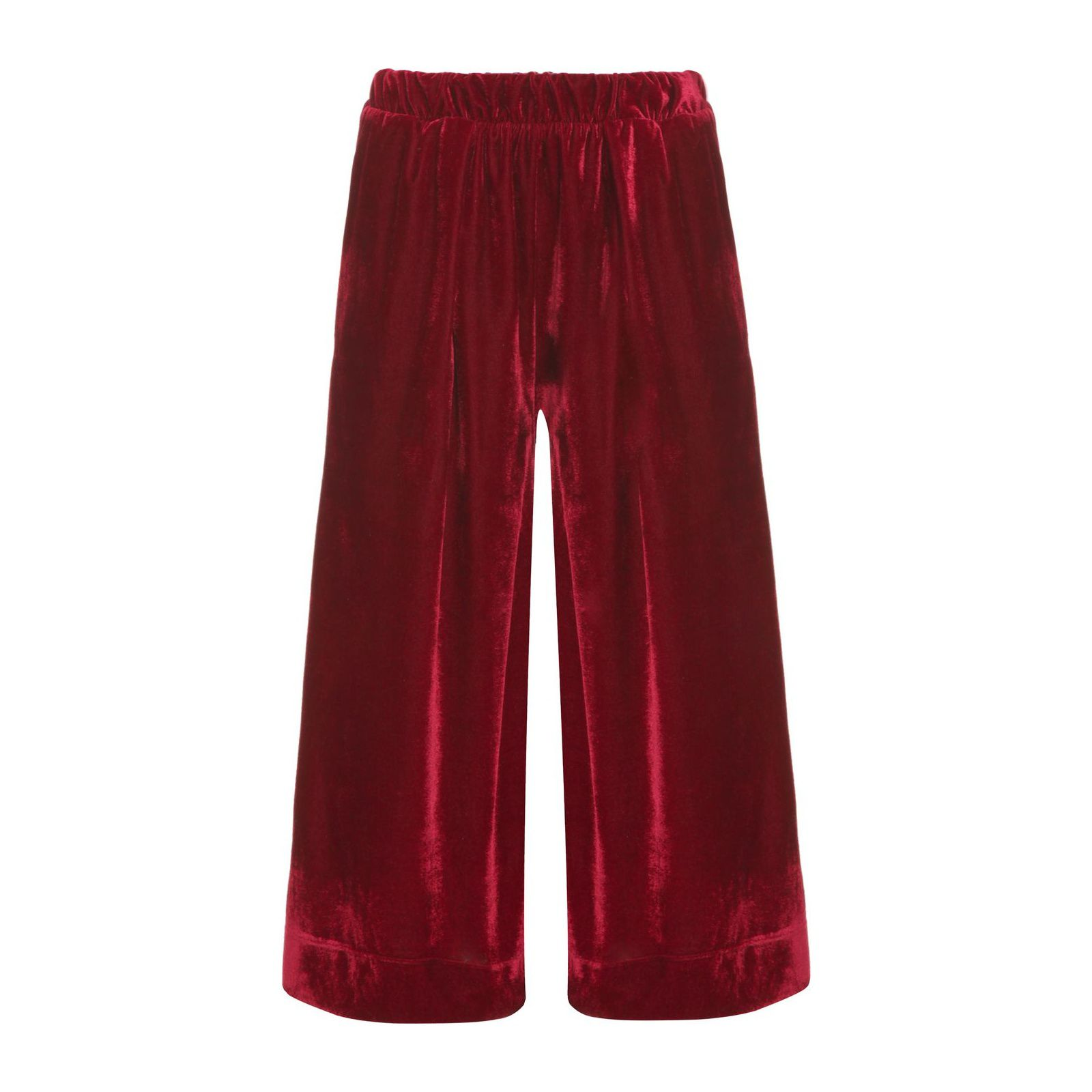 Calça Pantacourt Veludo Isabella Fiorentino - Vermelho