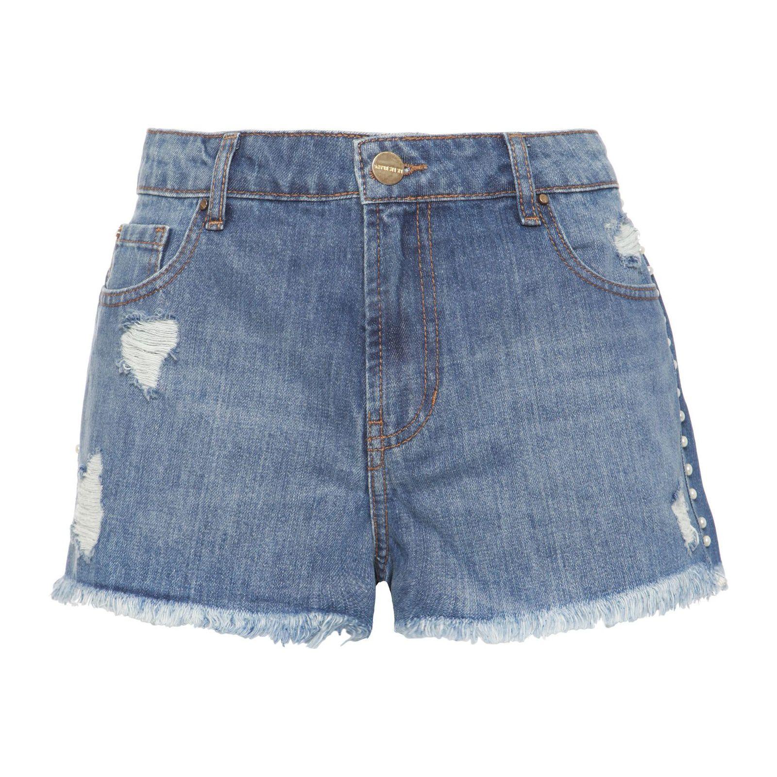 Short Jeans Pérolas Lily