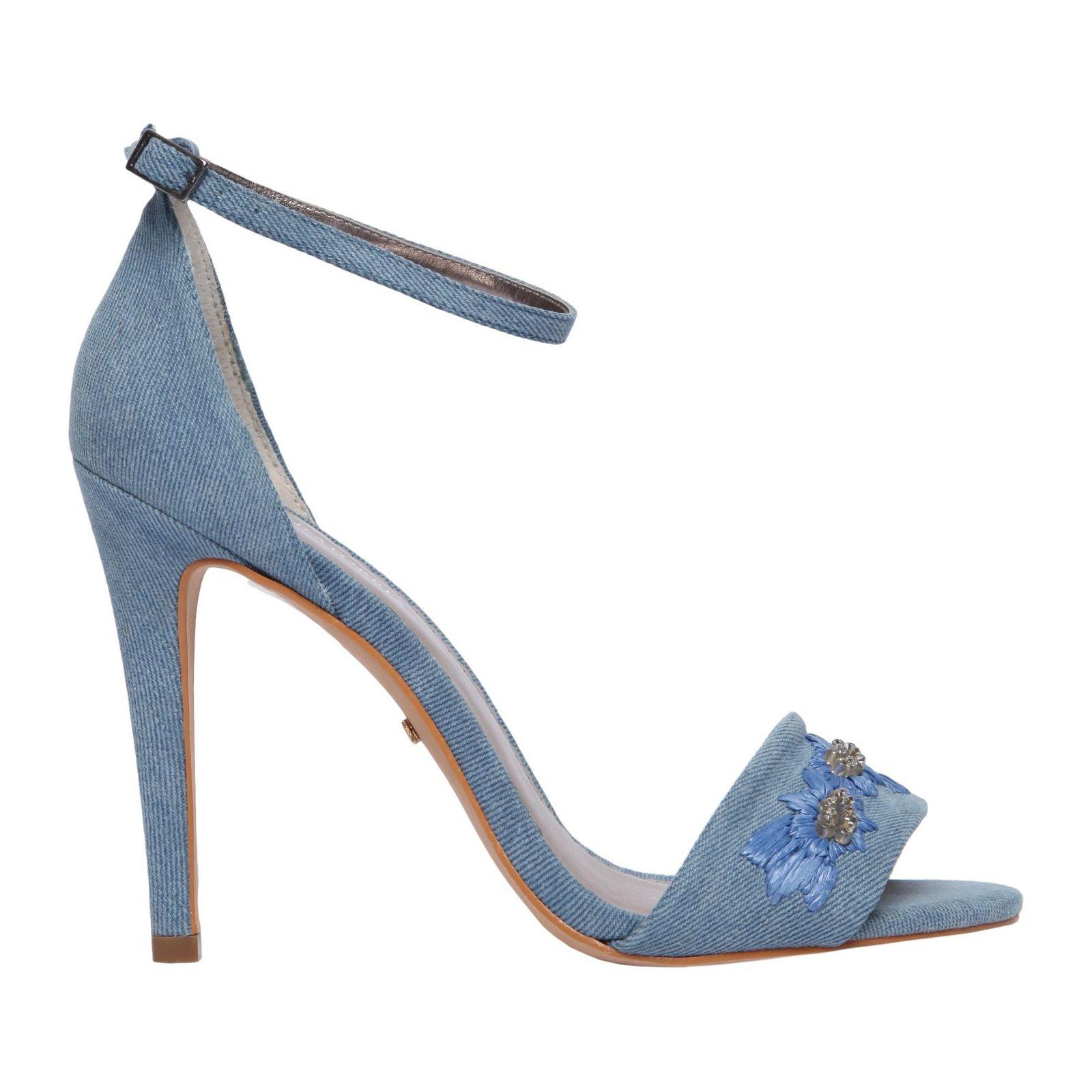 Sandália Bordada - Azul