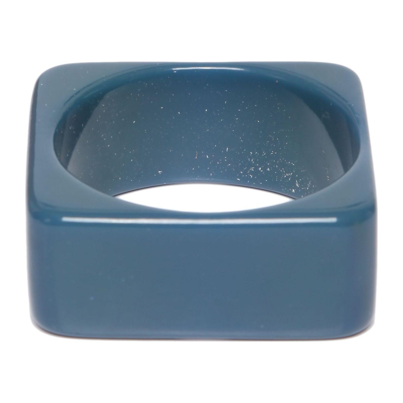 Pulseira Acrílico Quadrada - Azul