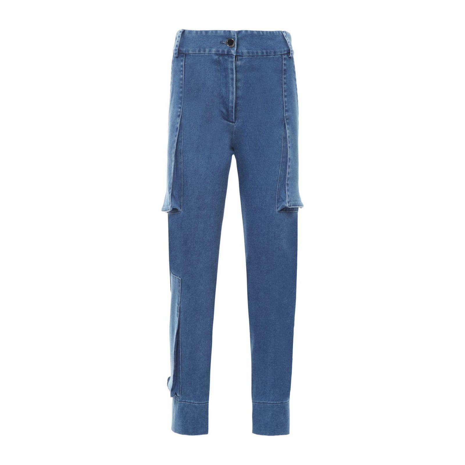 Calça Jeans Cropped Nesga - Azul